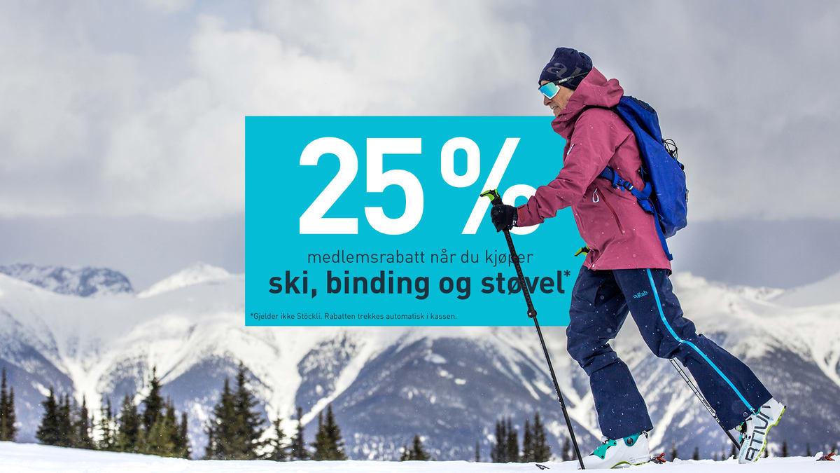 Ski binding støvel
