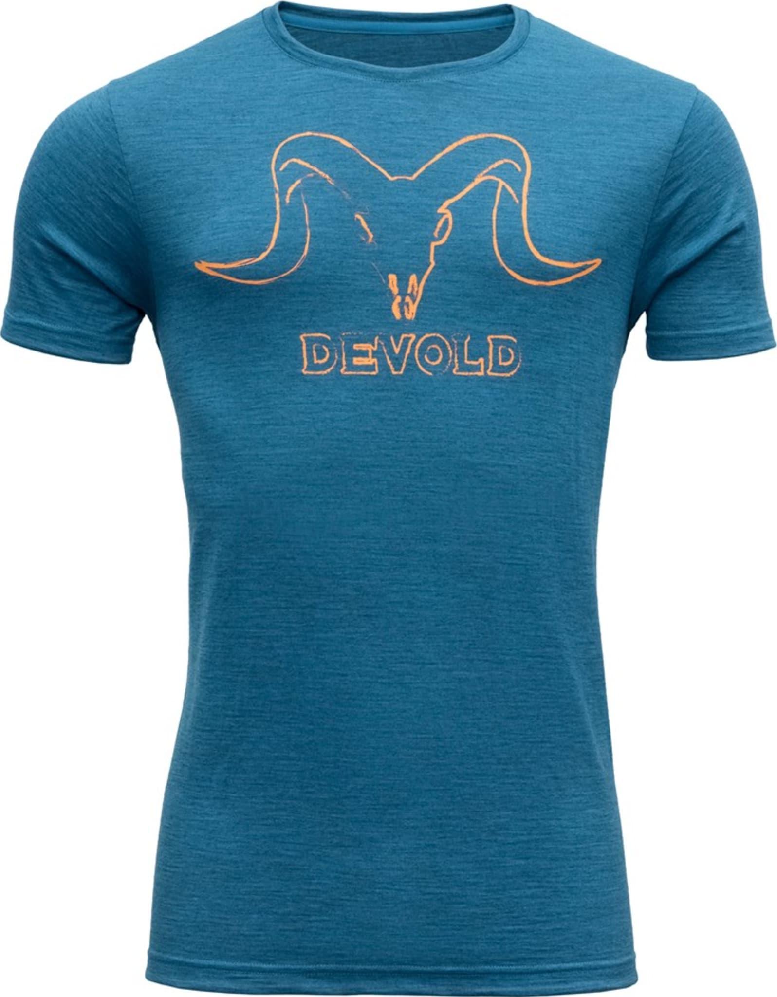 Komfortabel t-skjorte med print i 100% merinoull