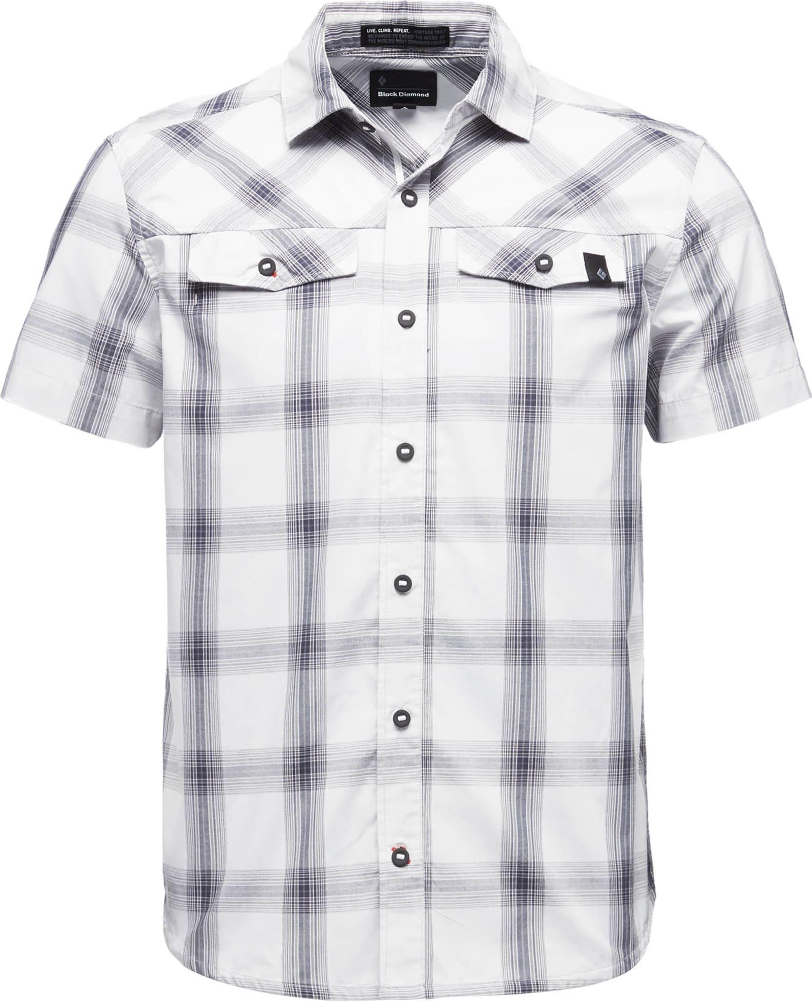Stilig kortermet skjorte i organisk bomull.