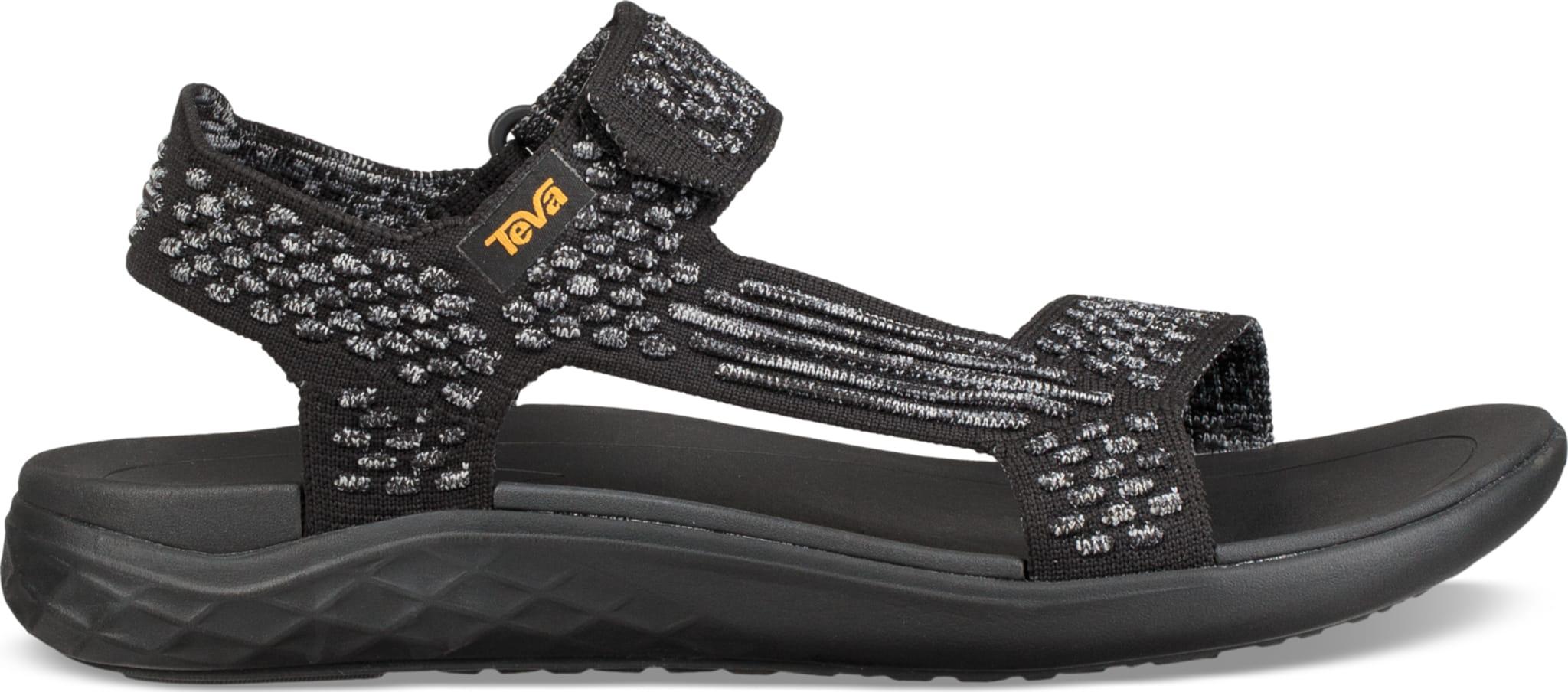 Lett og elegant sandal med vevd overdel
