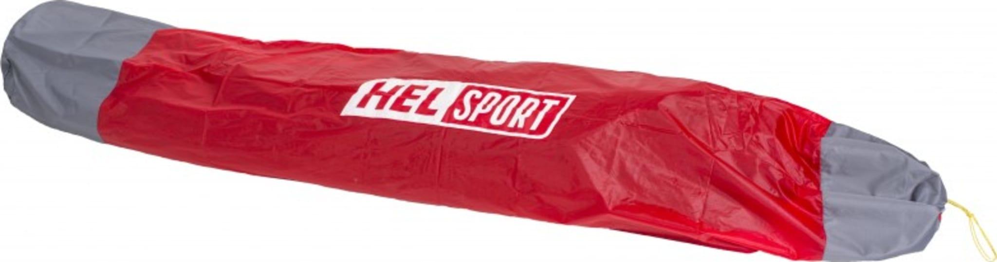 Trekk slik at du kan pakke ned teltet uten å ta ut stengene fra stangkanalen