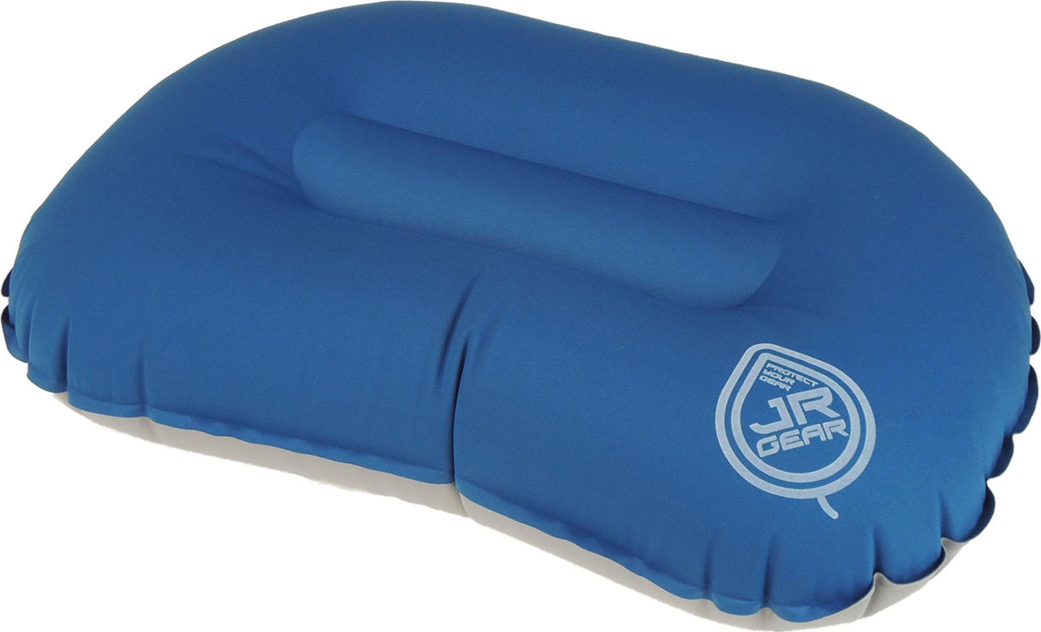 Lett oppblåsbar pute som passer inni hetta på soveposen