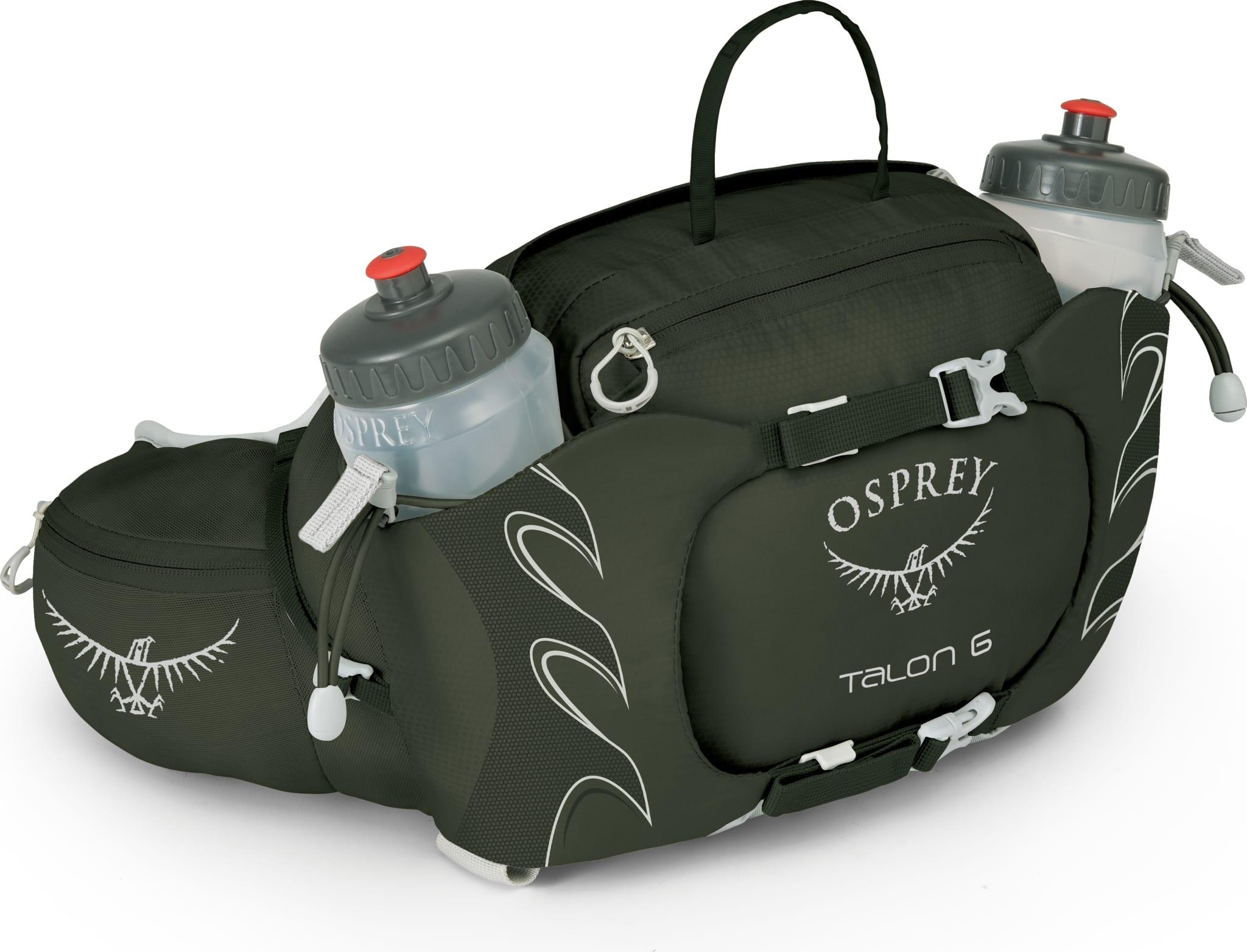 Rumpetaske med oppbevaringsrom og to drikkeflasker