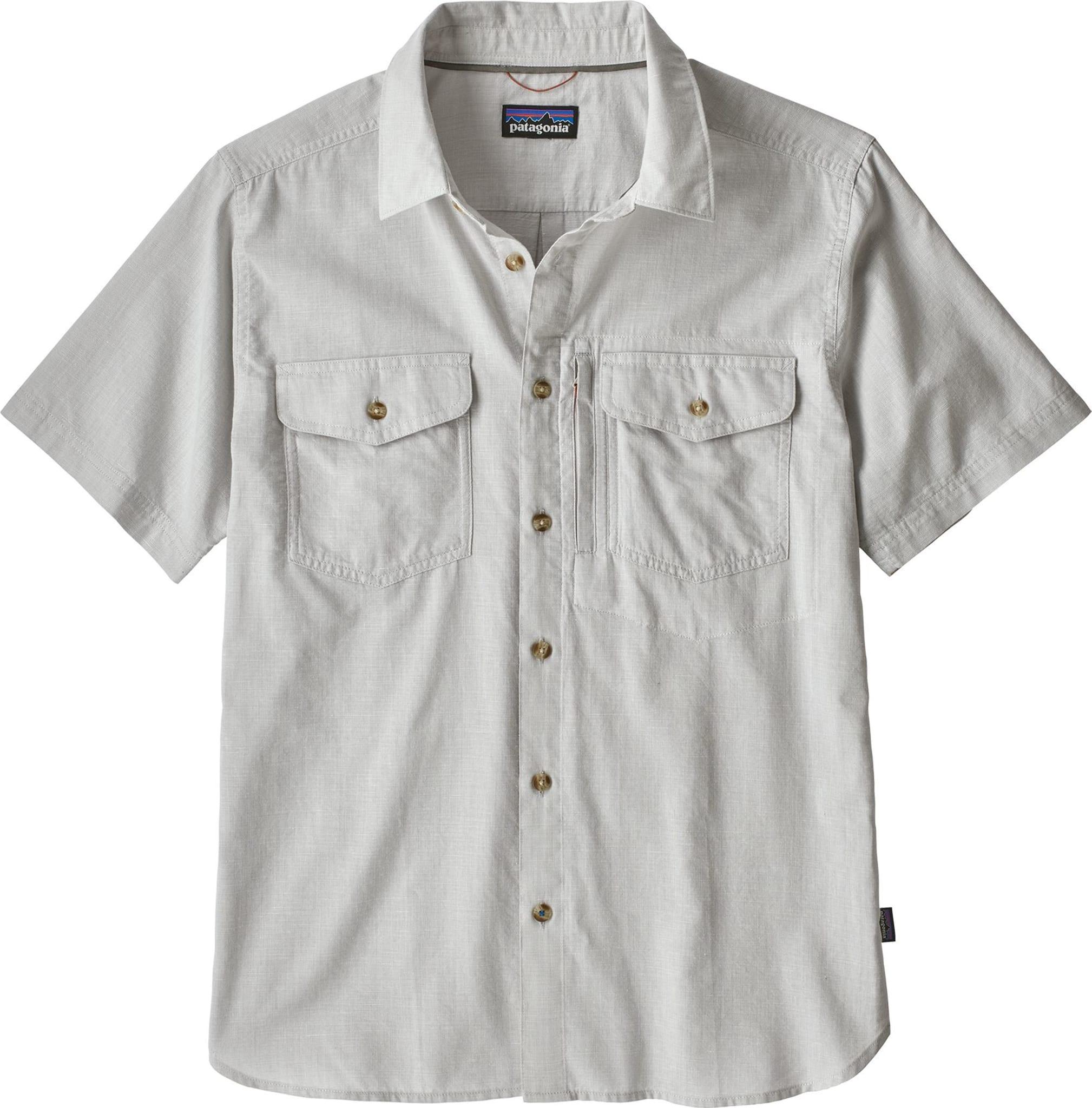 Tynn og behagelig kortermet skjorte i hurtigtørkende bomullsblanding
