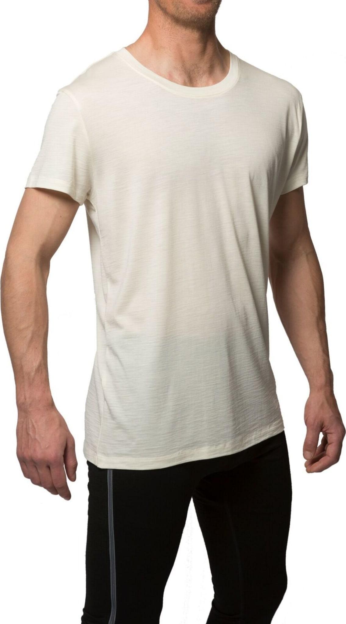 Klassisk superbehagelig t-skjorte i organisk ull og silke