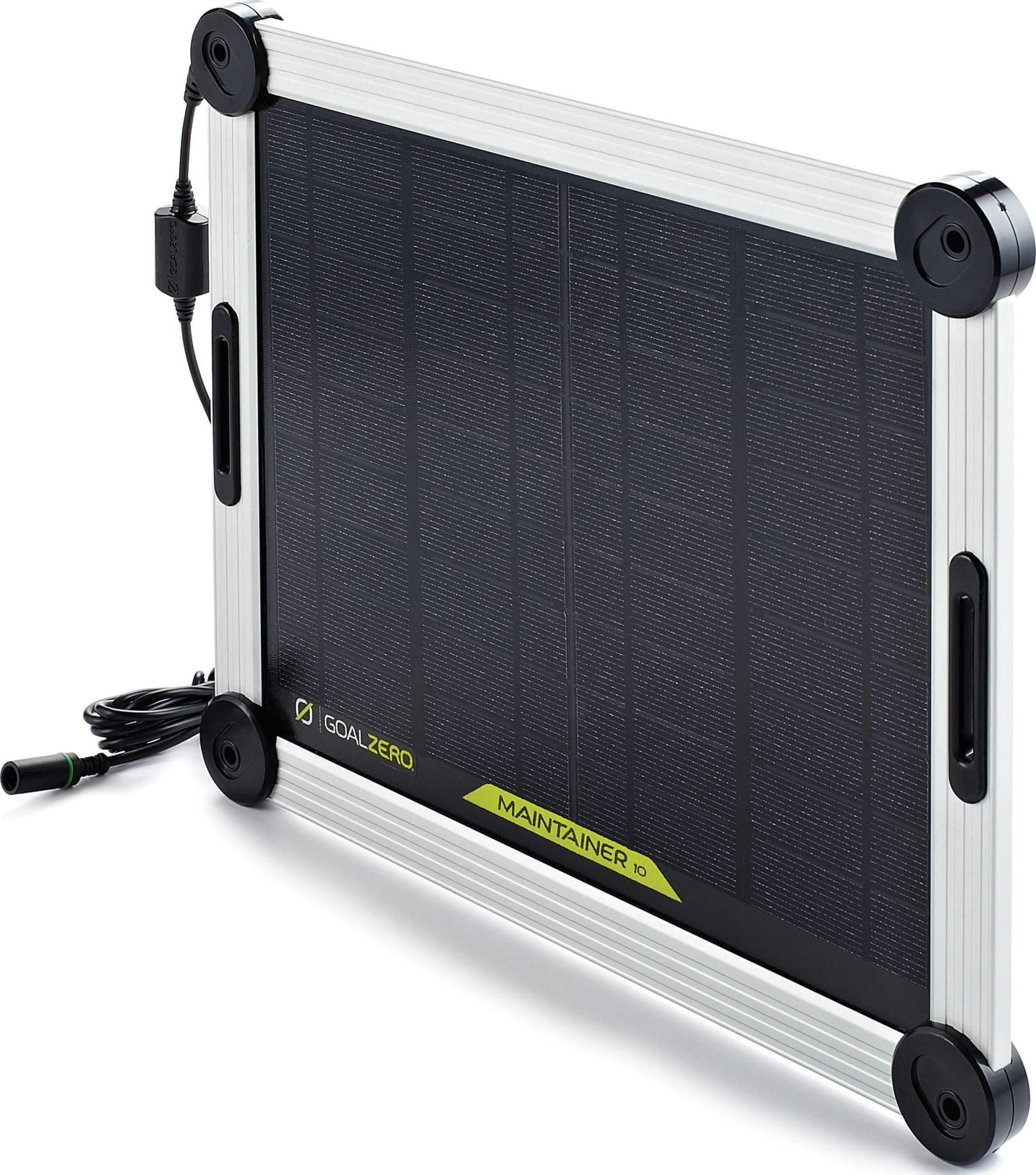 Kraftigere solcellepanel med integrert automatisk lader til 12v batterier