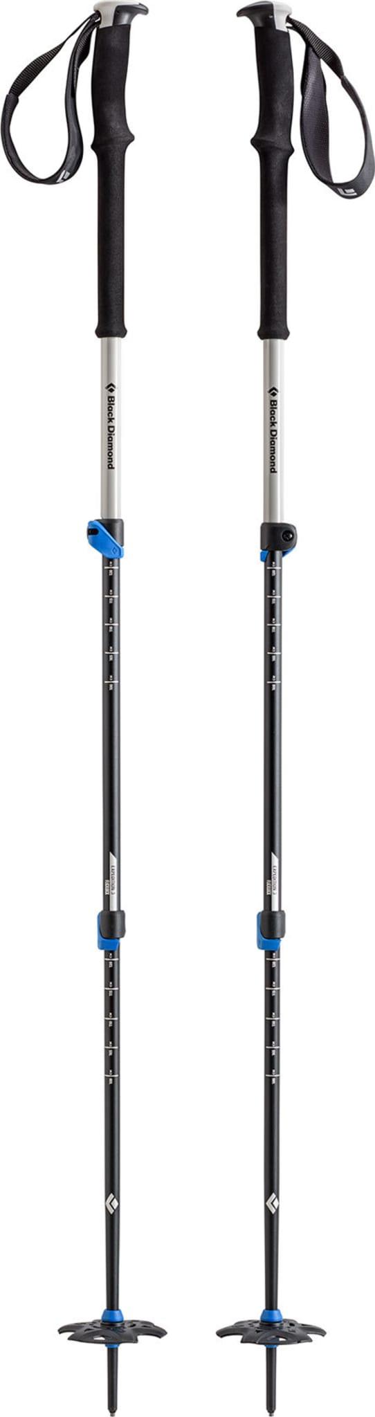 Tredelt teleskopstav for ski og trekking