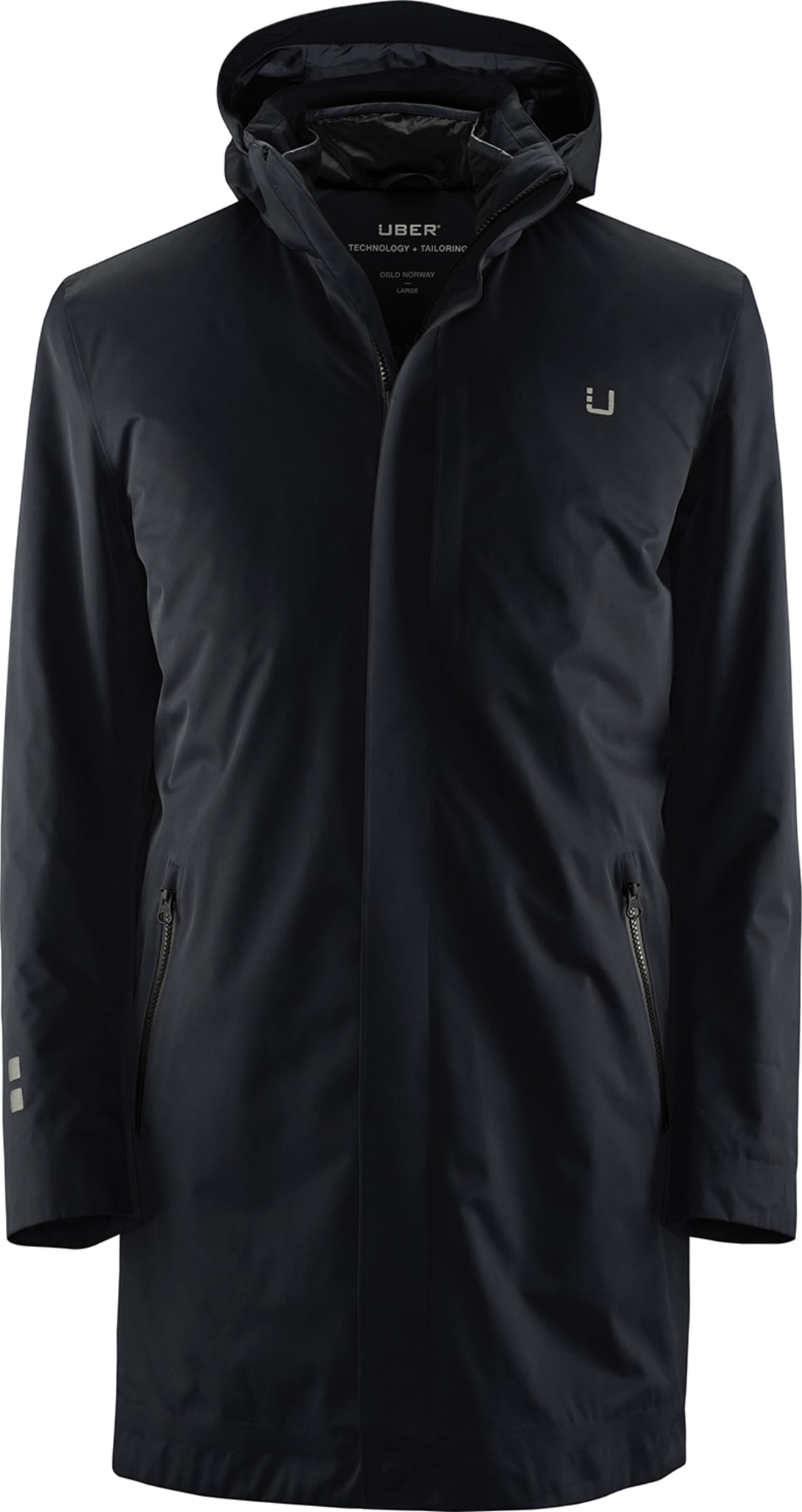 Elegant frakk med uttakbar isolasjon