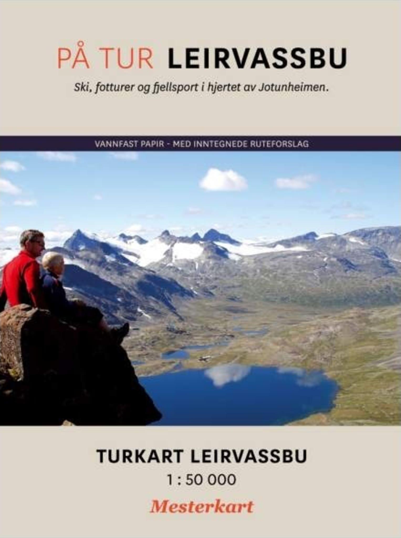 """""""Obligatorisk"""" turkart til boken """"På tur - Leirvassbu"""""""