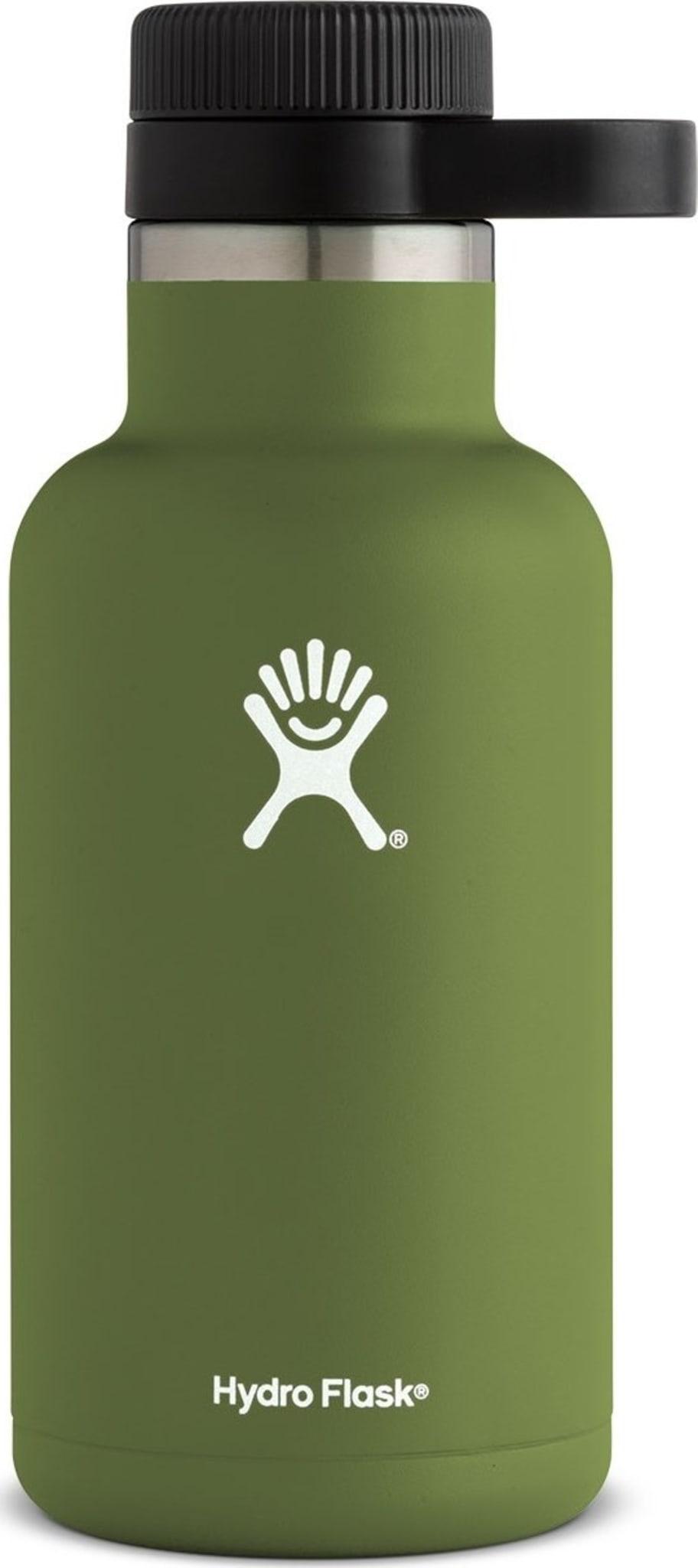 Stor, isolert flaske for å holde øl eller annen drikke kald