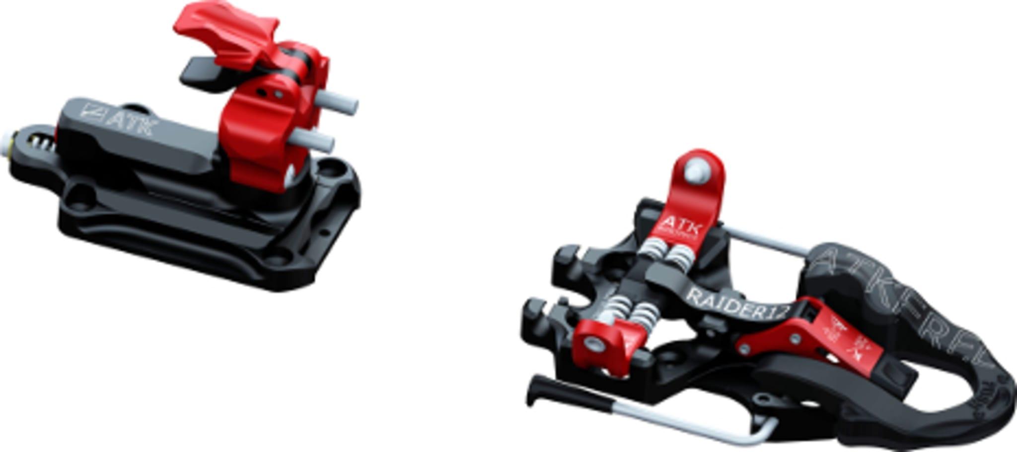 Allsidig toppturbinding med integrert skistopper!
