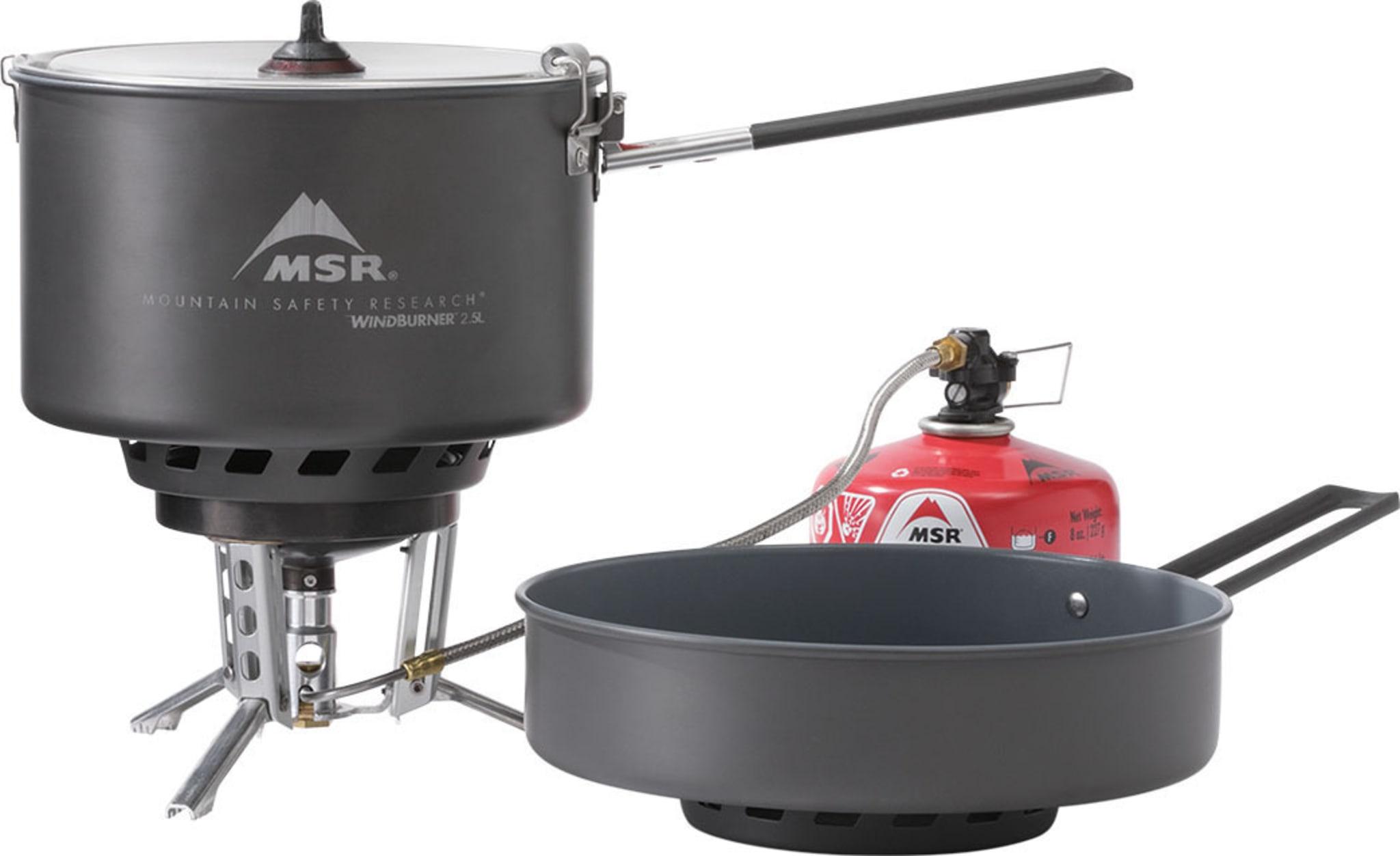 Effektivt, lett og værsikkert brennersystem med kjele og stekepanne