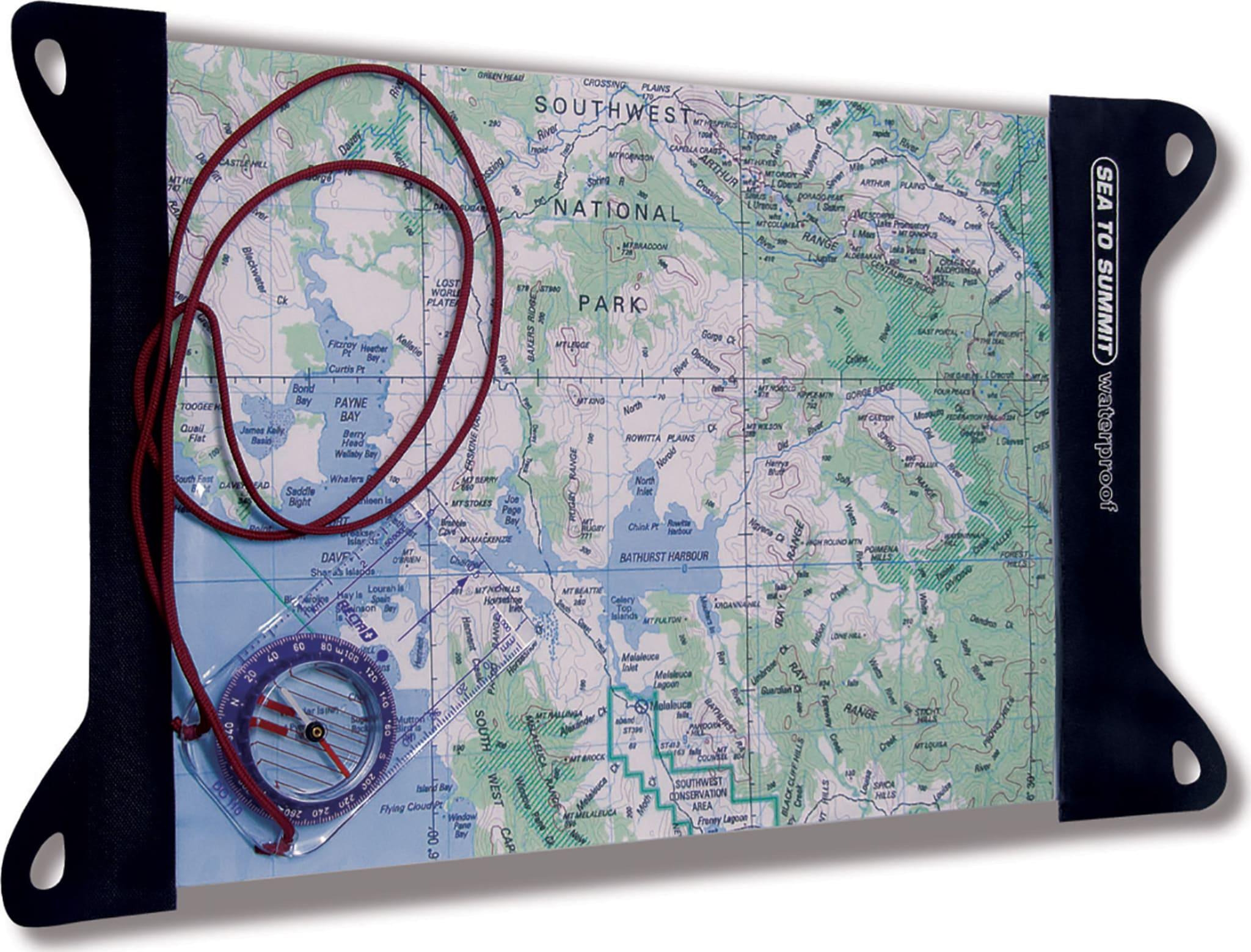 Vann- og støvtett kartmappe laget i gjennomsiktig og slitesterkt TPU-matriale