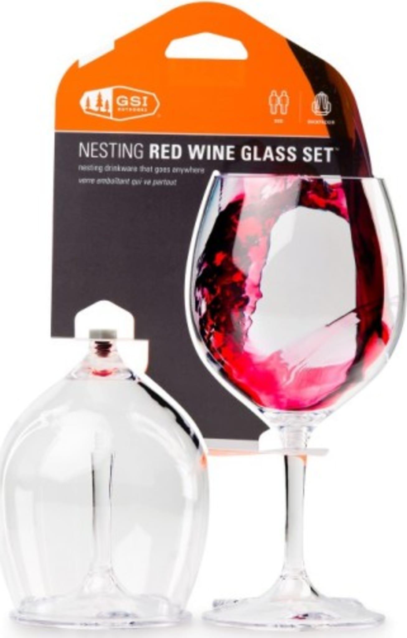 Robuste, lette og sammenleggbare rødvinsglass