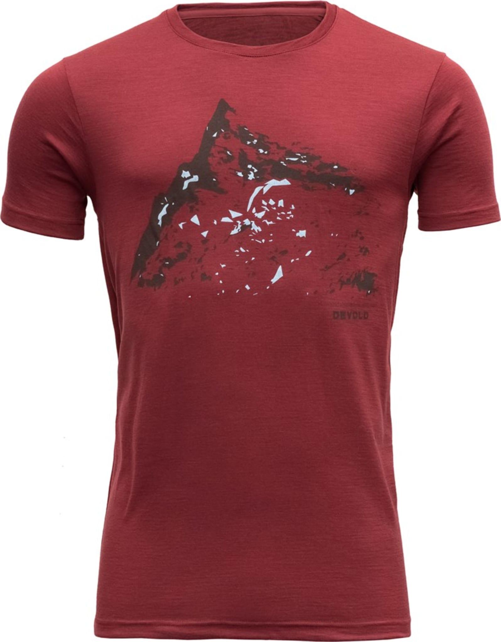 Myk t-skjorte med print i 100% merinoull