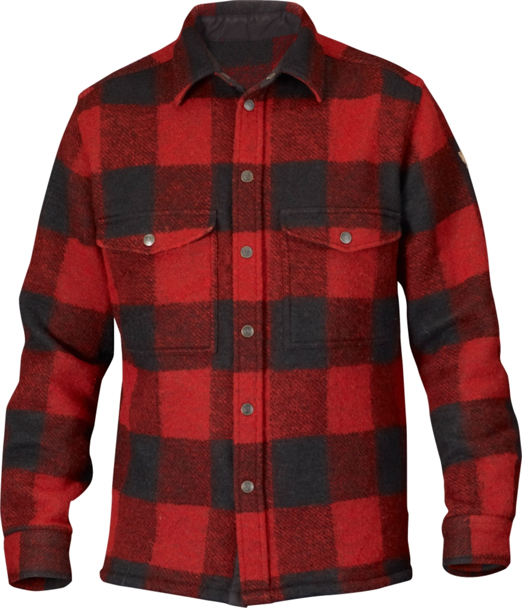 Tykk og behagelig skjorte i ullblanding med stort bruksområde