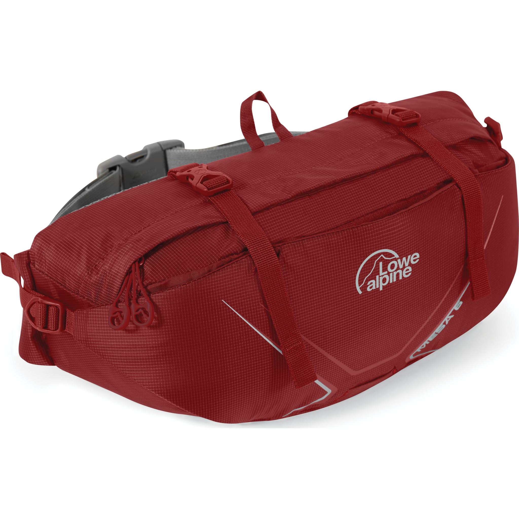 Komfortabel rumpetaske med kompresjonsreimer og utvendig lomme