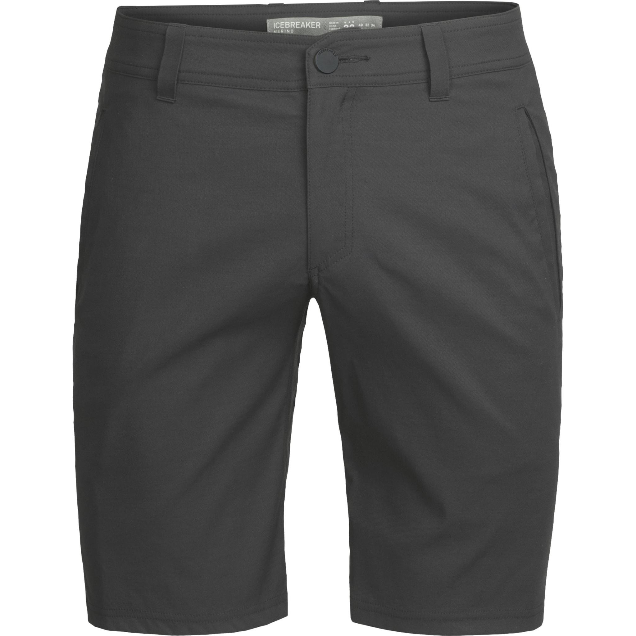 Shorts i kunststoff med tynn lining av merinoull