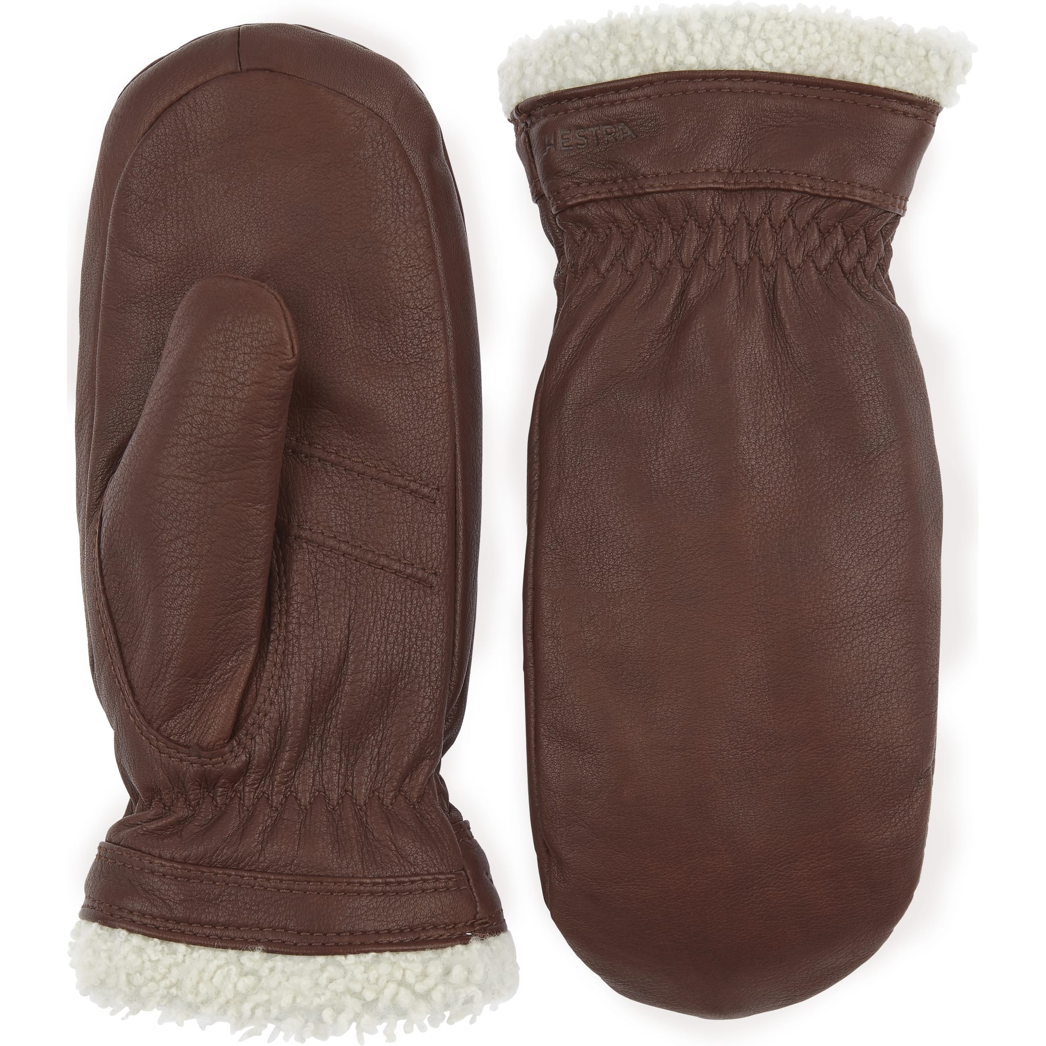 Klassiske, varm og kofortable skinnvotter