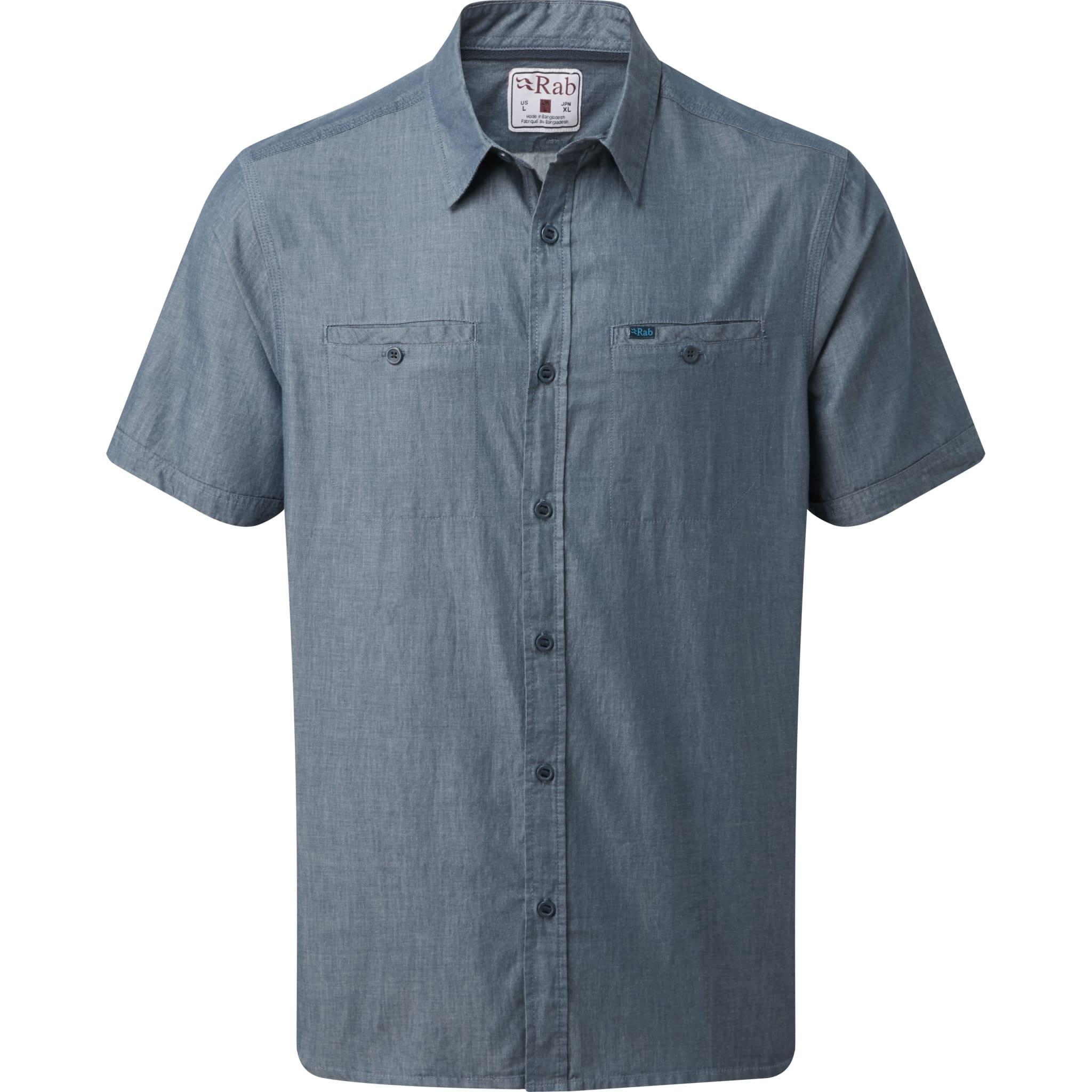 Klassiks kort ermet skjorte i bomull