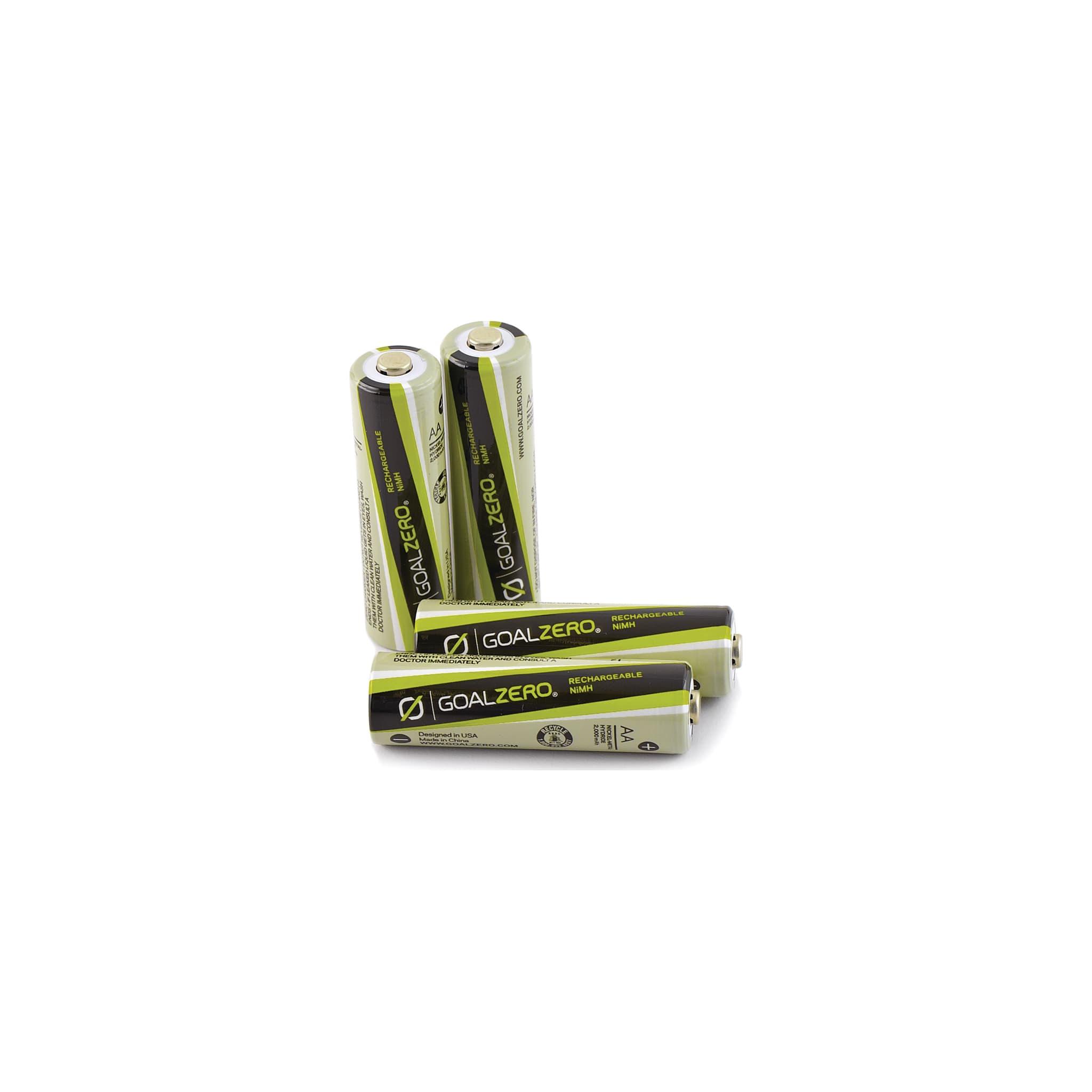 4 oppladbare AA batterier