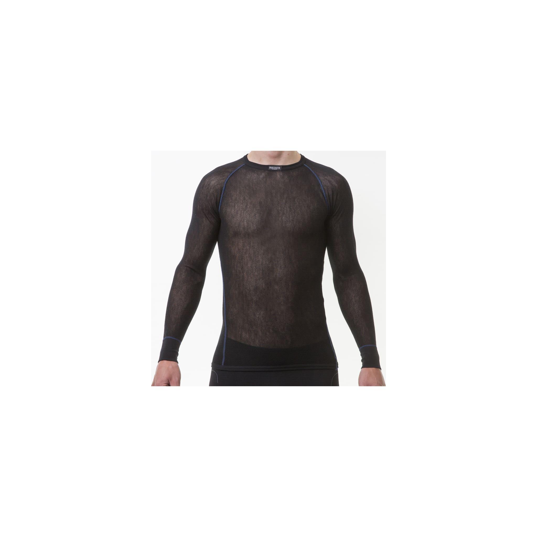 Langermet nettingskjorte laget av fin merinoull