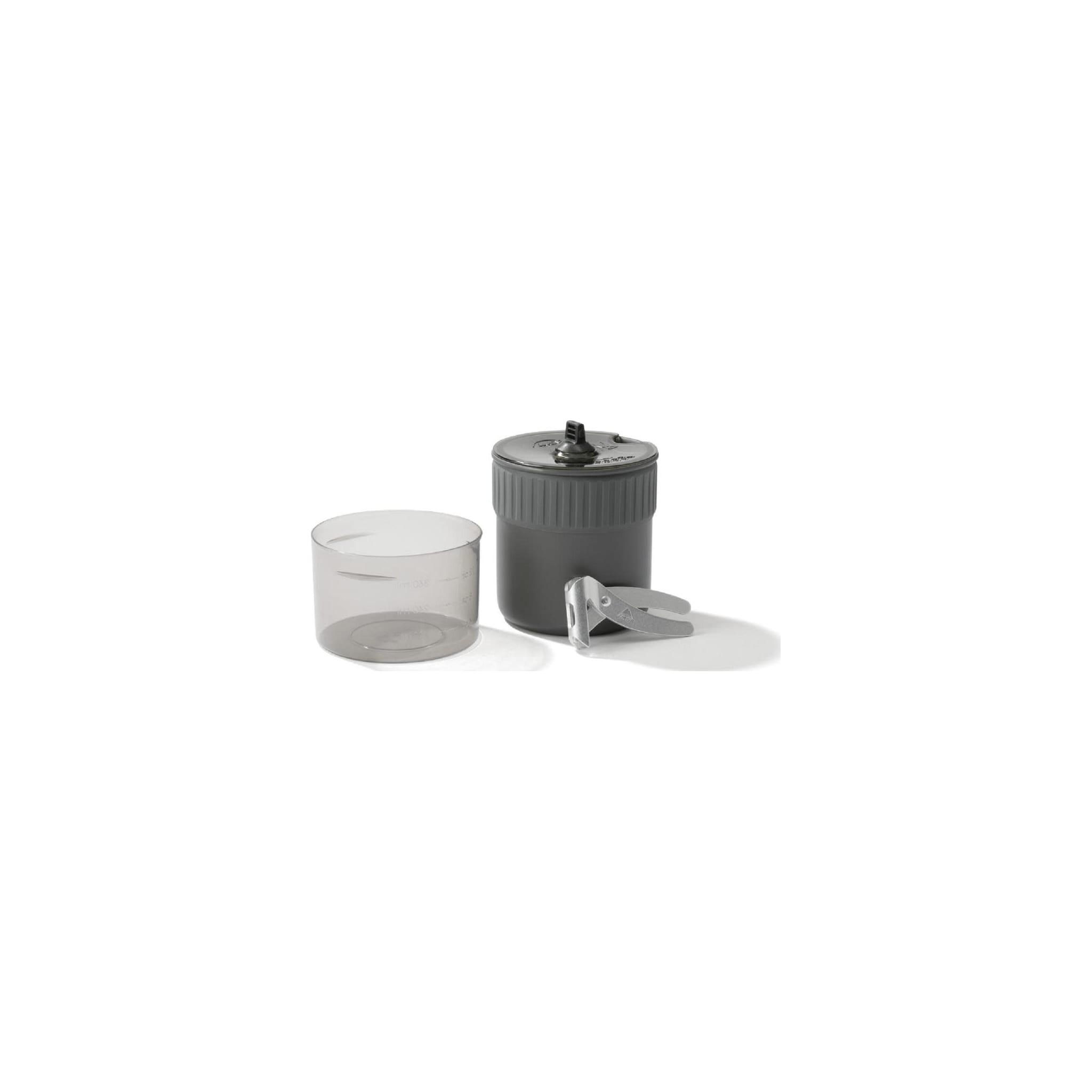 Superlett kjele for vannkoking med plass til brenner og gassboks til to personer