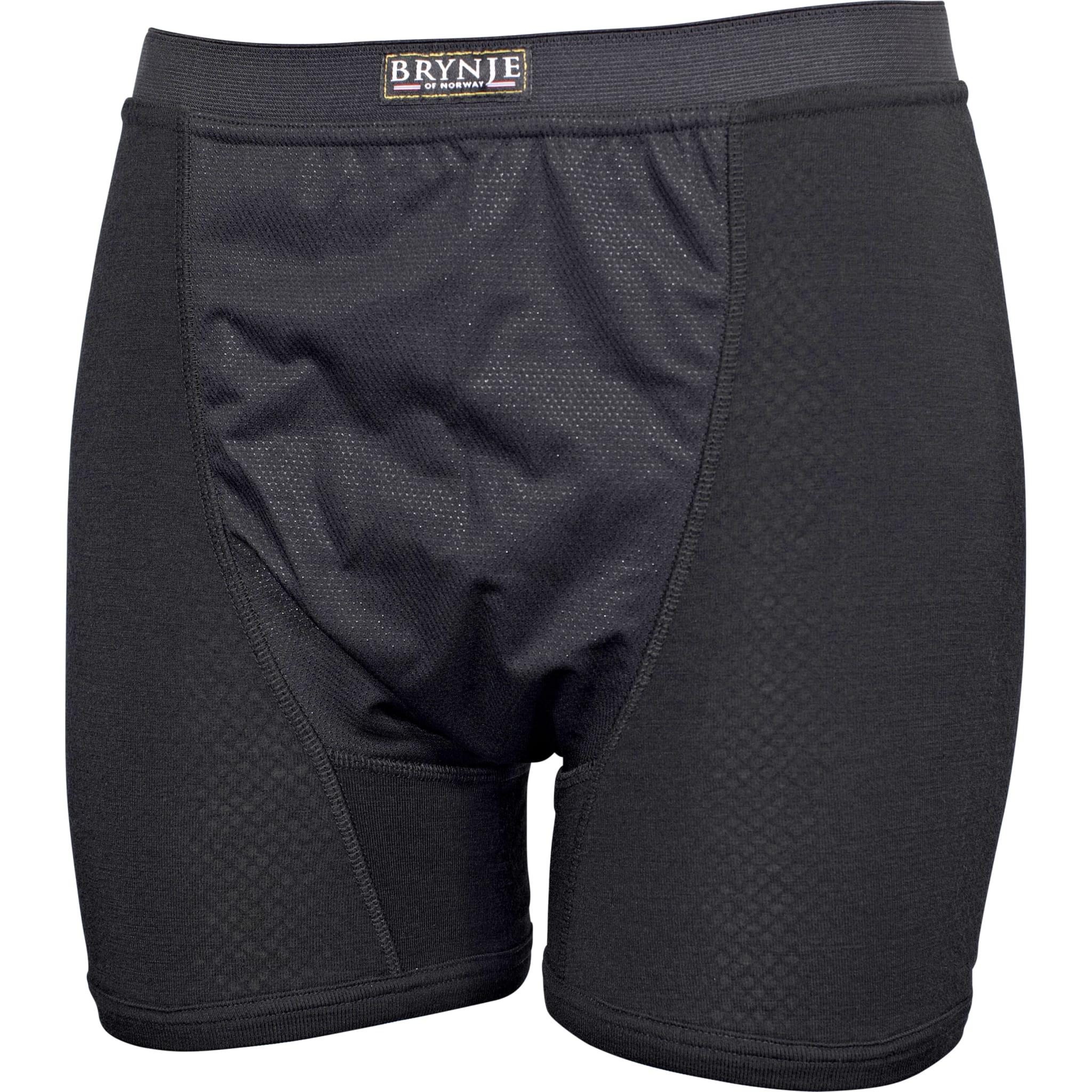 Boxer-shorts med elastisk vindstopper i front.