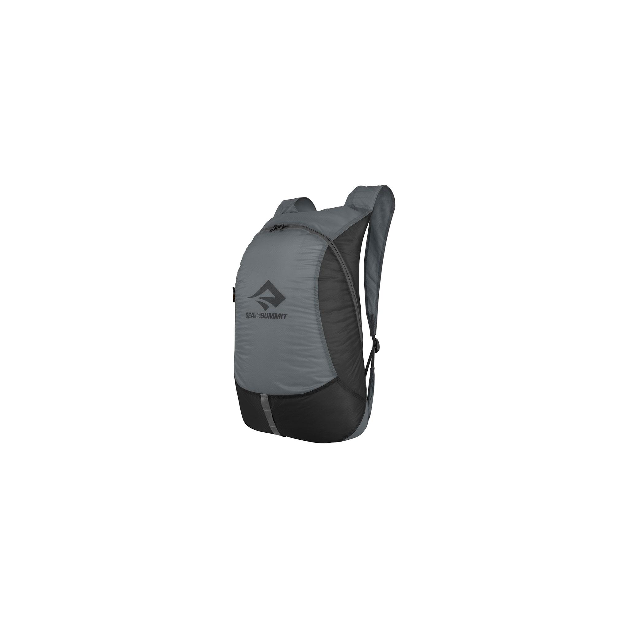 Ultralett sekk som rommer 20l og kan pakkes i lomma!
