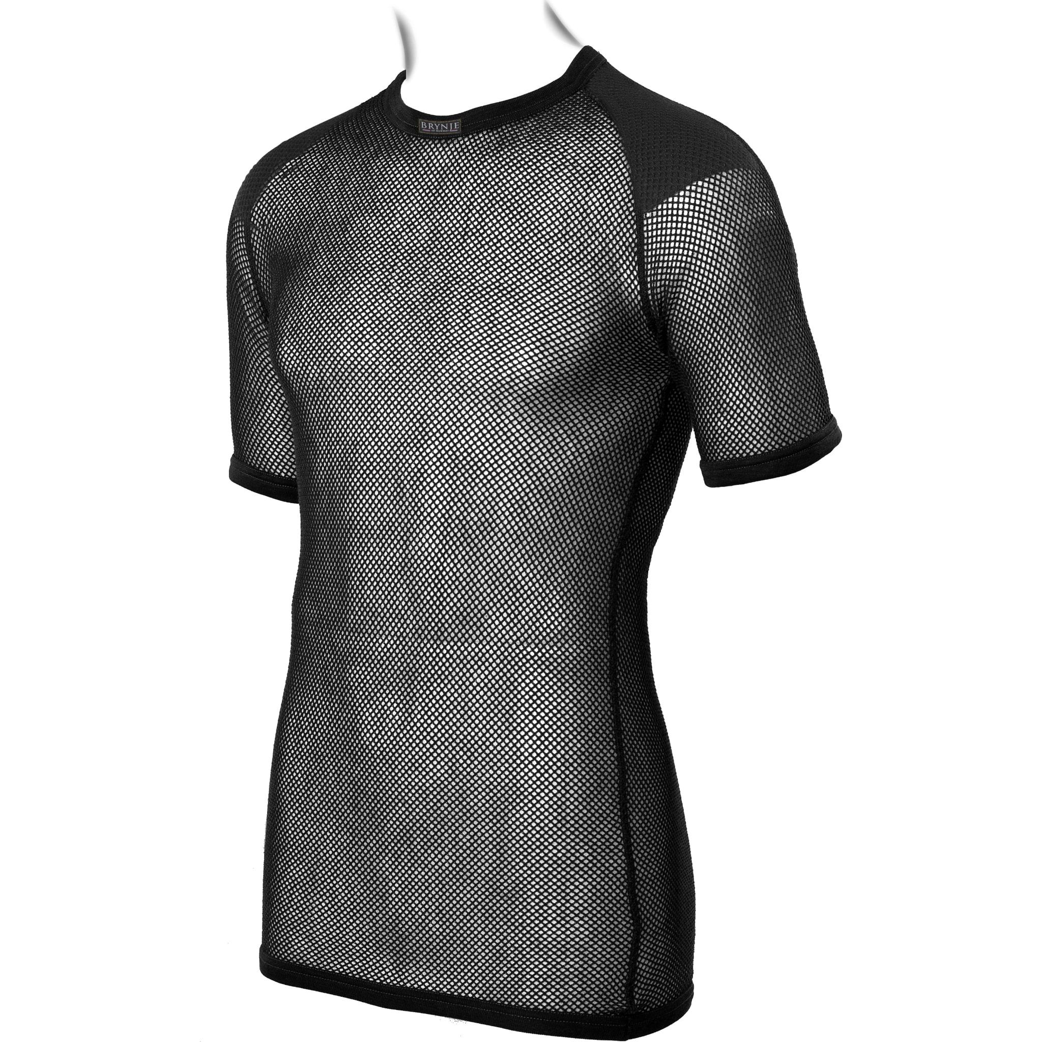 Trøye med rund hals, kort arm og innlegg på skulder for økt komfort.