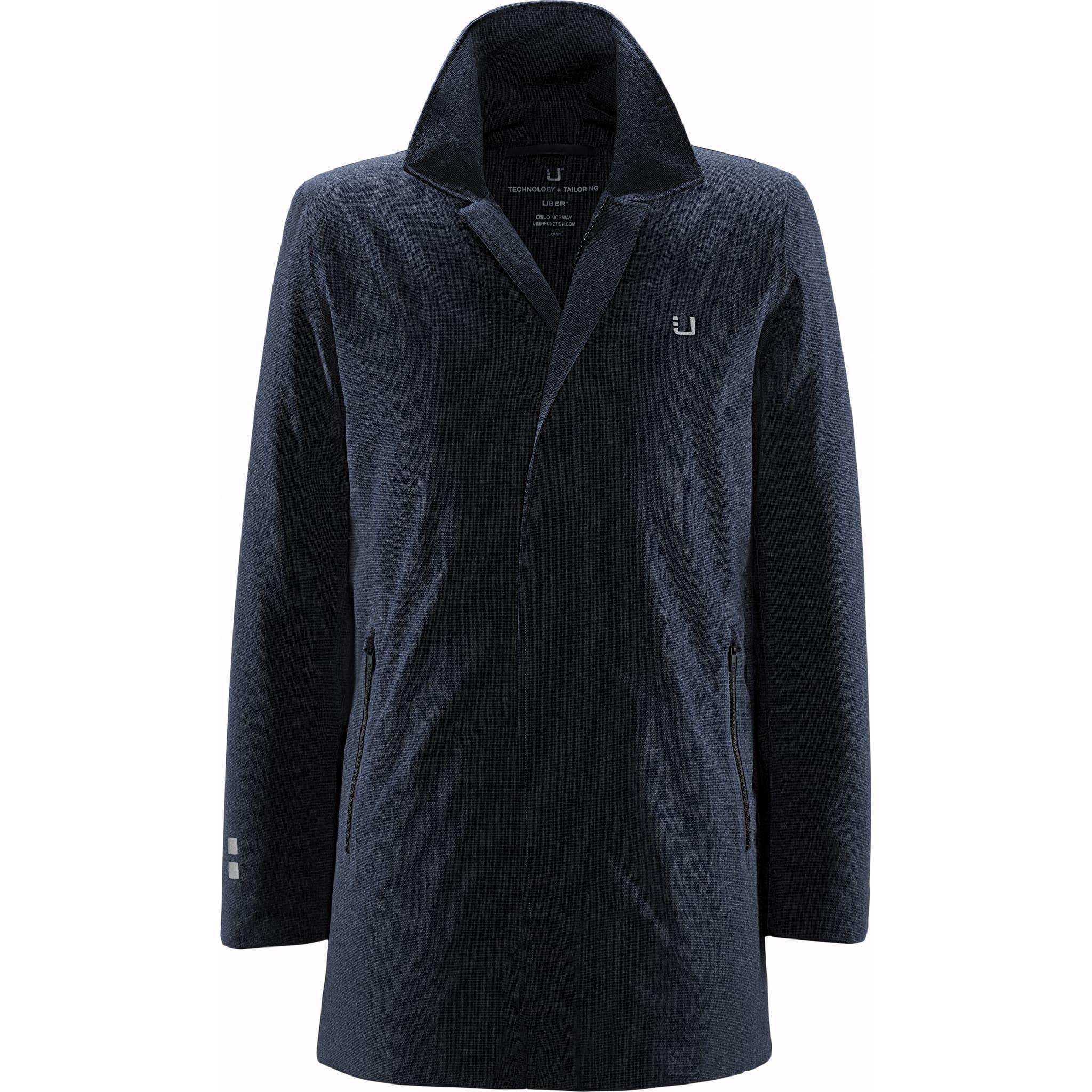 Regulator coat med kraftig og bomullsaktig ytterstoff