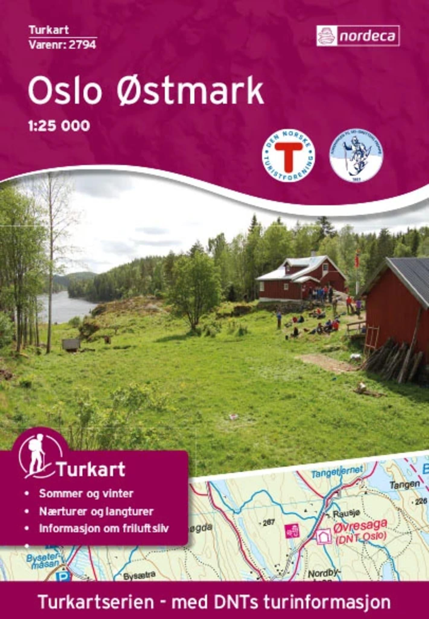 Oslo Østmark 1:25 000