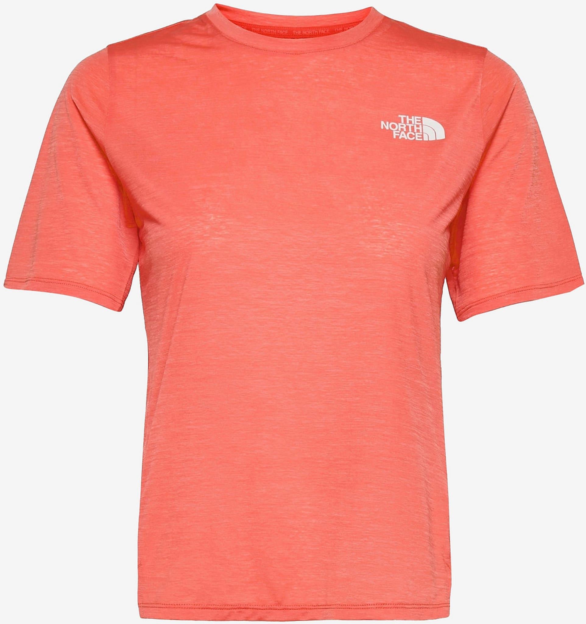 Up With The Sun T-skjorten er en myk T-skjorte som har et fuktighetstransporterende materiale, og likevel kjennes ut som en bomulls-T-skjorte.