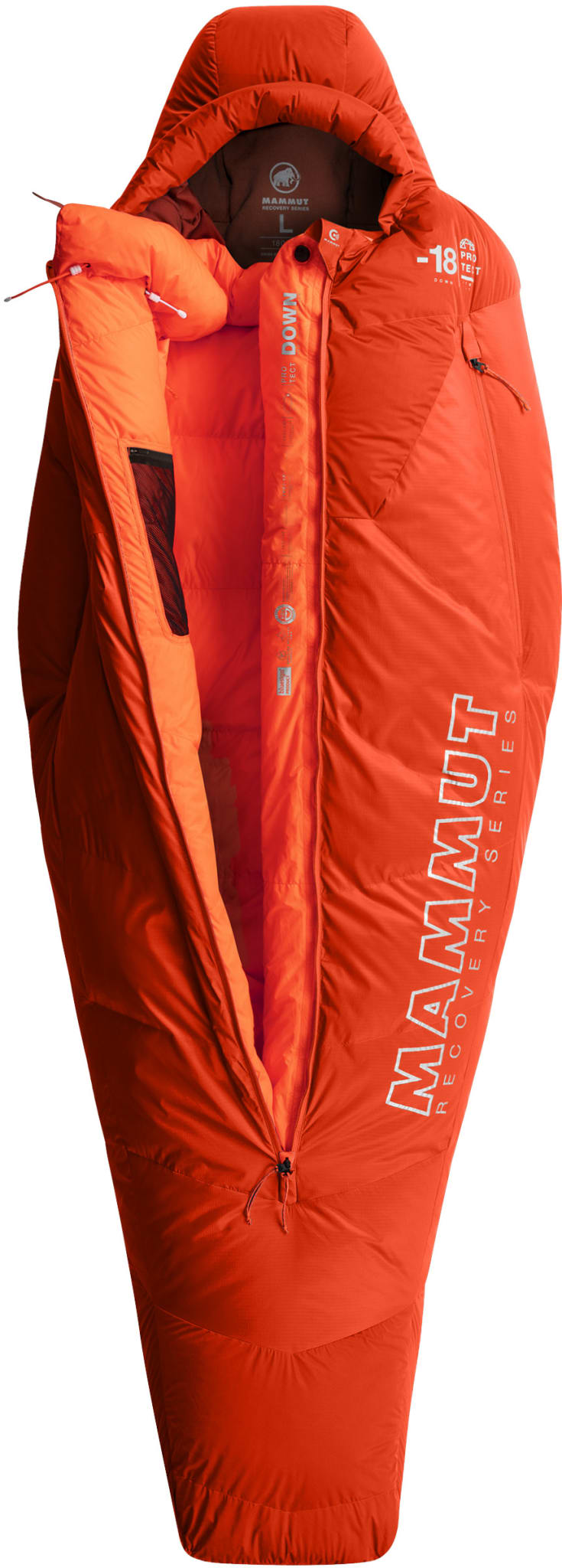 Innovativ vintersovepose med dunisolasjon