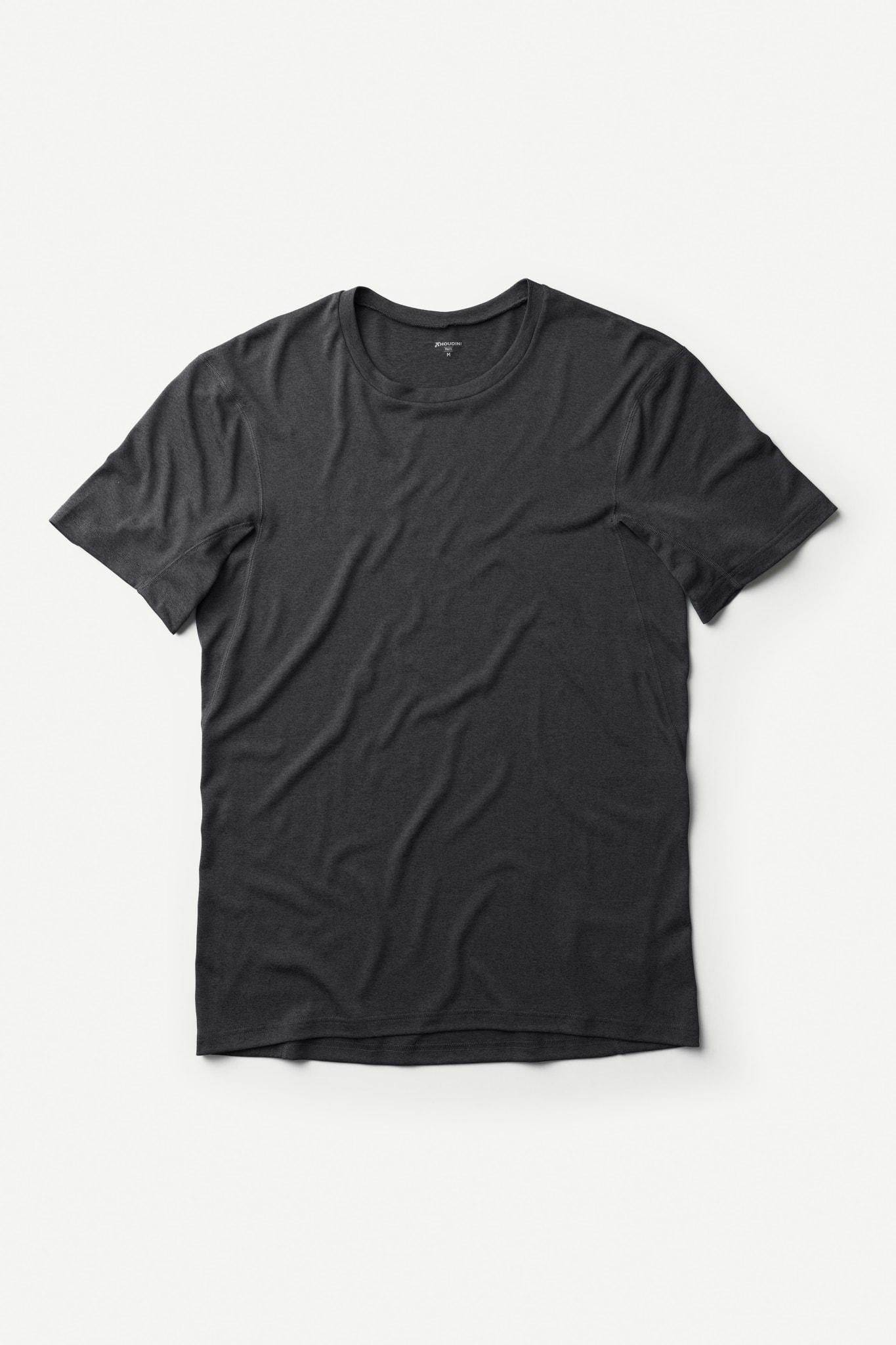 T-skjorte for trening og tur i syntetisk materiale