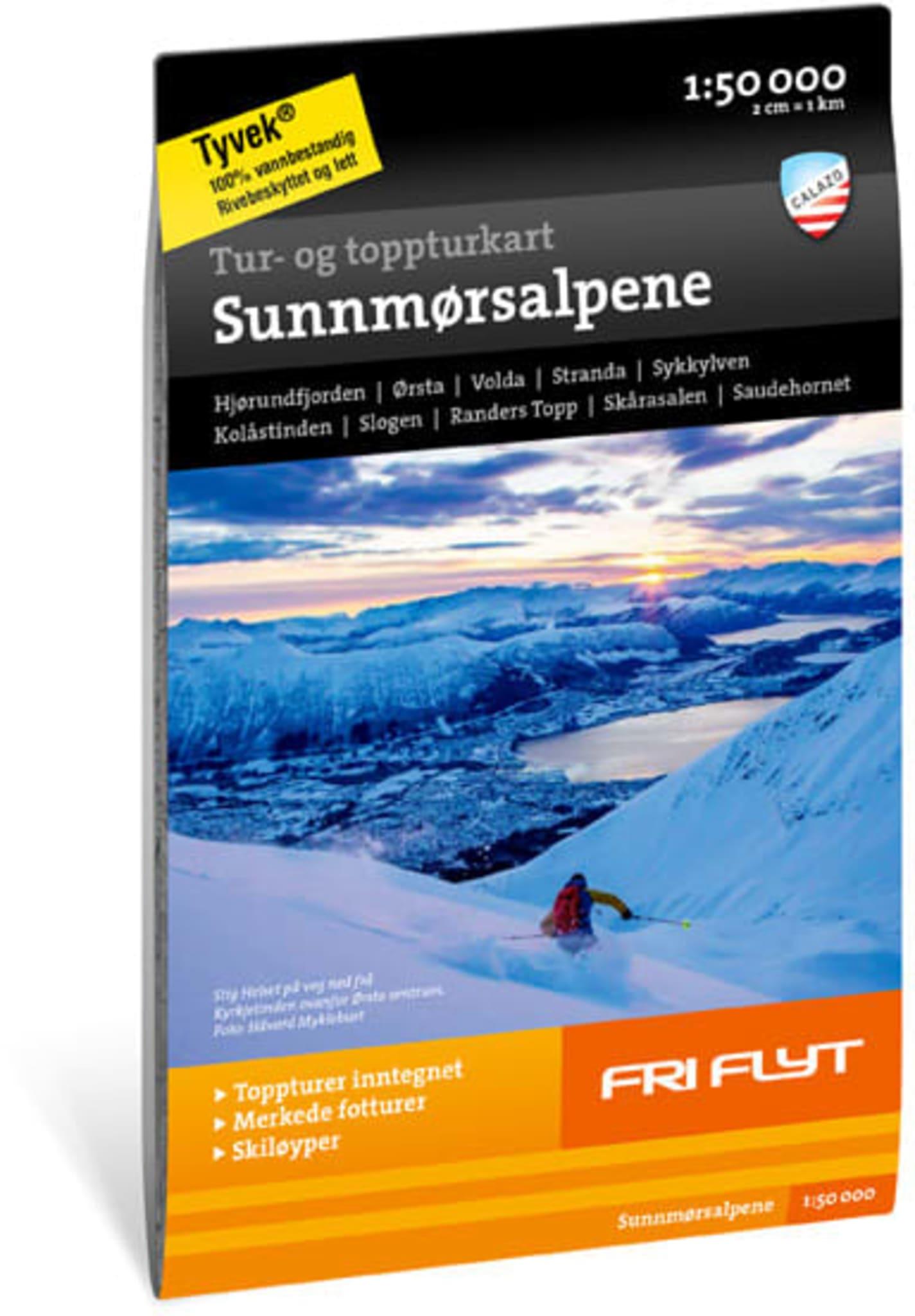 Fra hvitkledde fjellsider ned mot dype fjorder