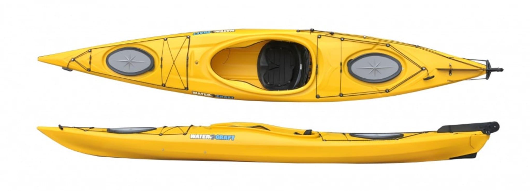 Suveren kajakk for de litt mindre eller de som ønsker en meget stabil båt - komplett med åre!