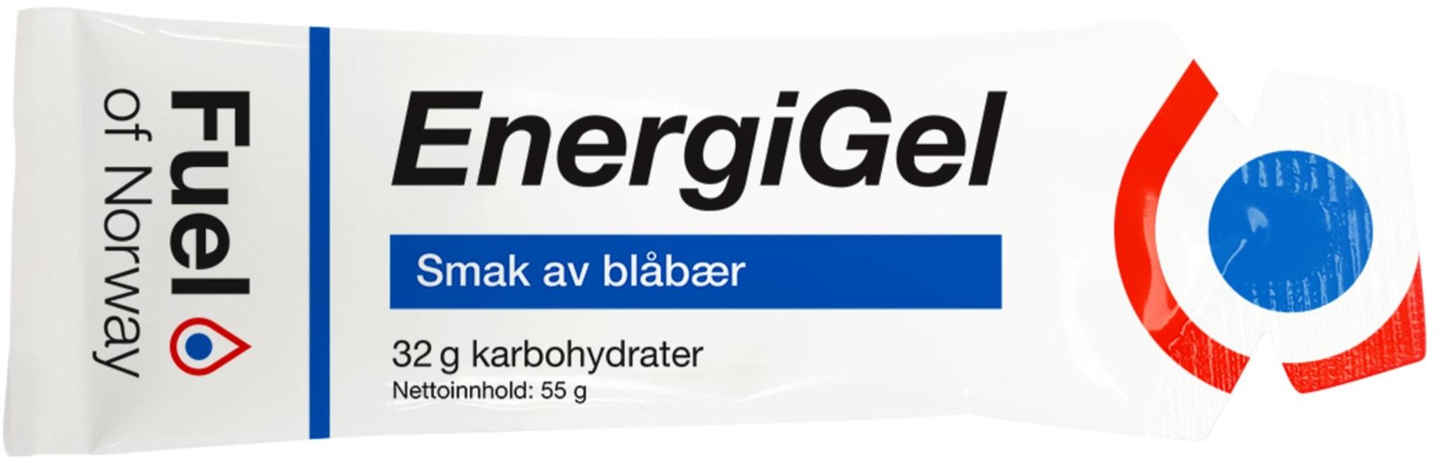 Energigel fra Fuel of Norway med forskjellige smaker og muligheten for koffein!