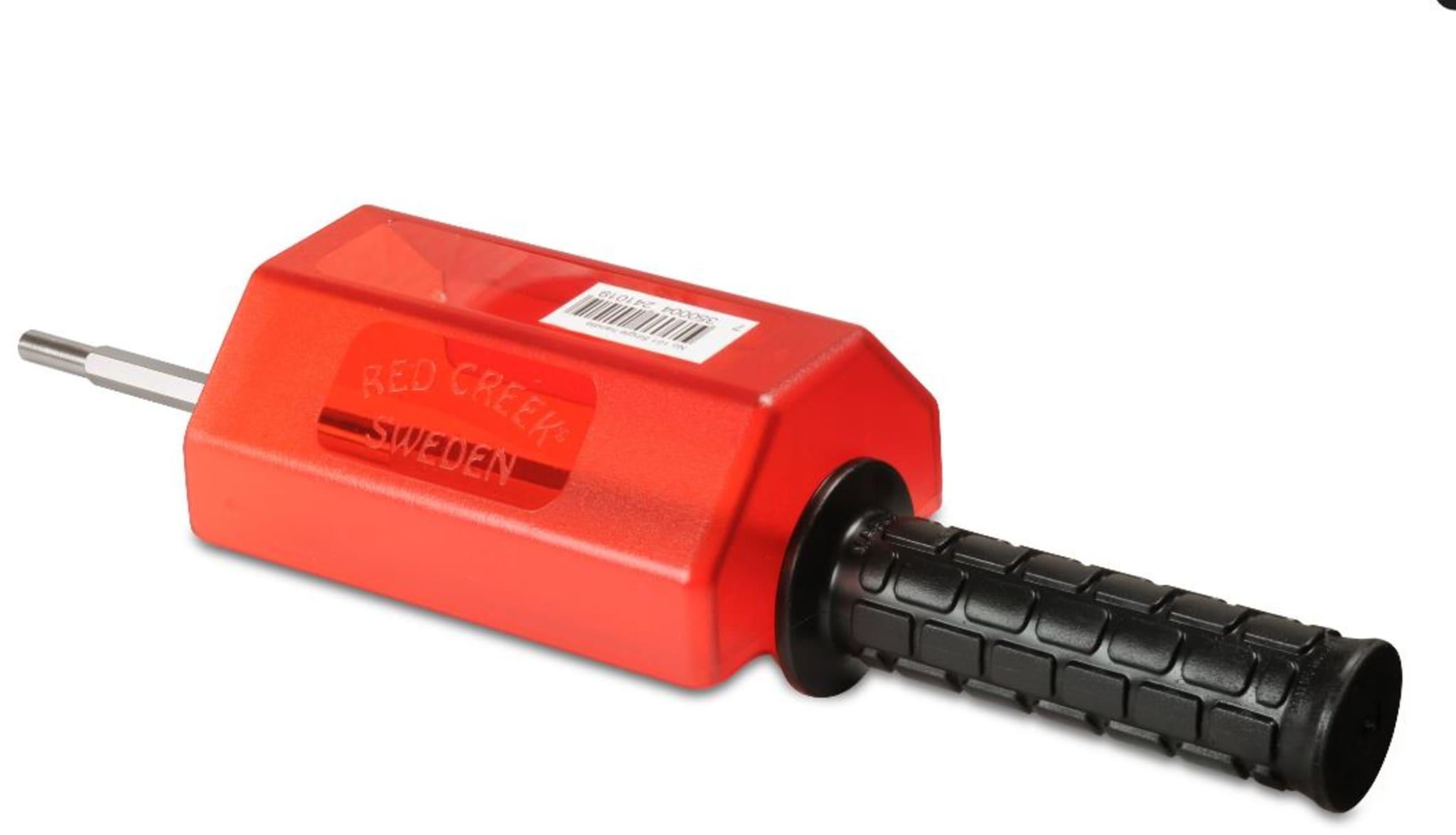 Håndtak med aksling for bruk med 200mm rotorbørster fra Red Creek