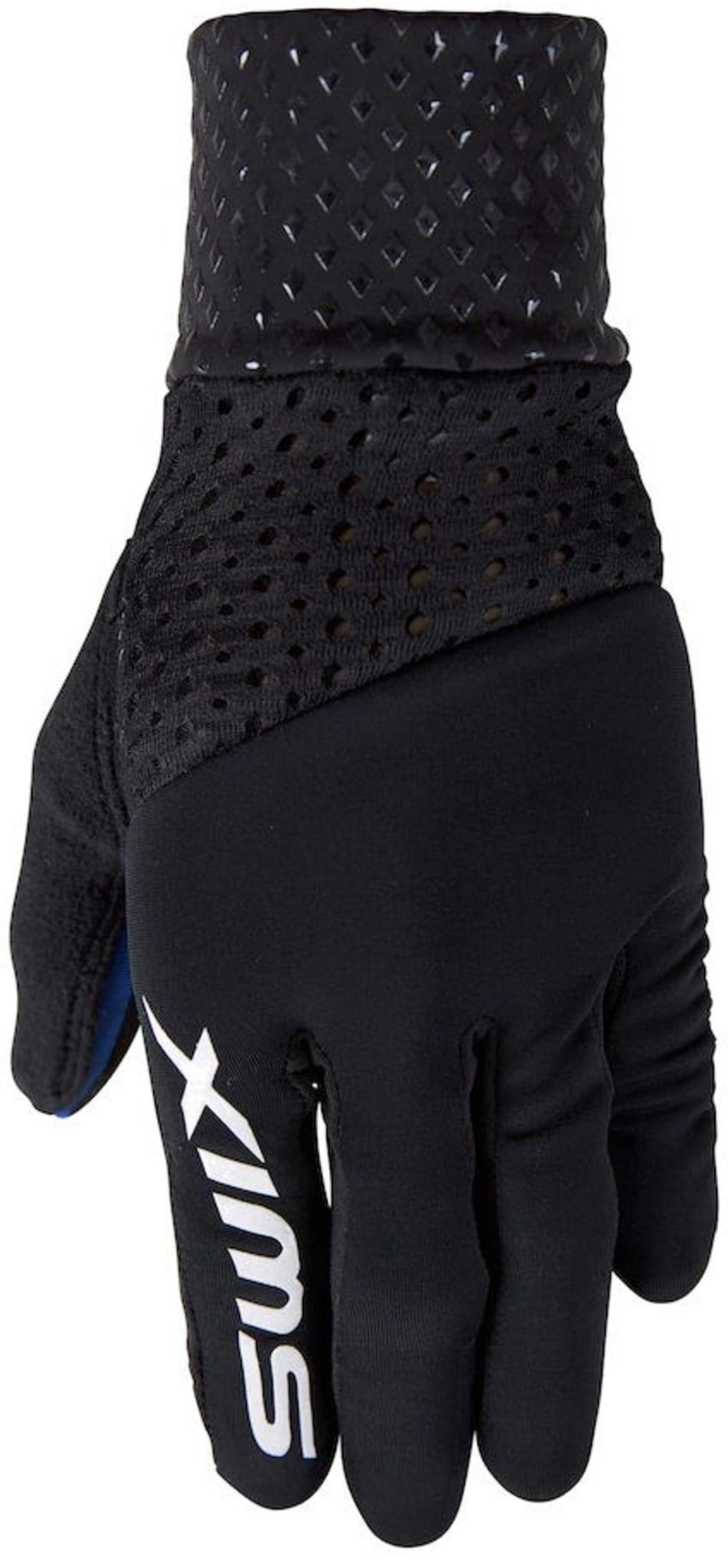 Tynn og lett racinghanske som er optimalisert for å passe til Swix Triac stav og Triac jakke.