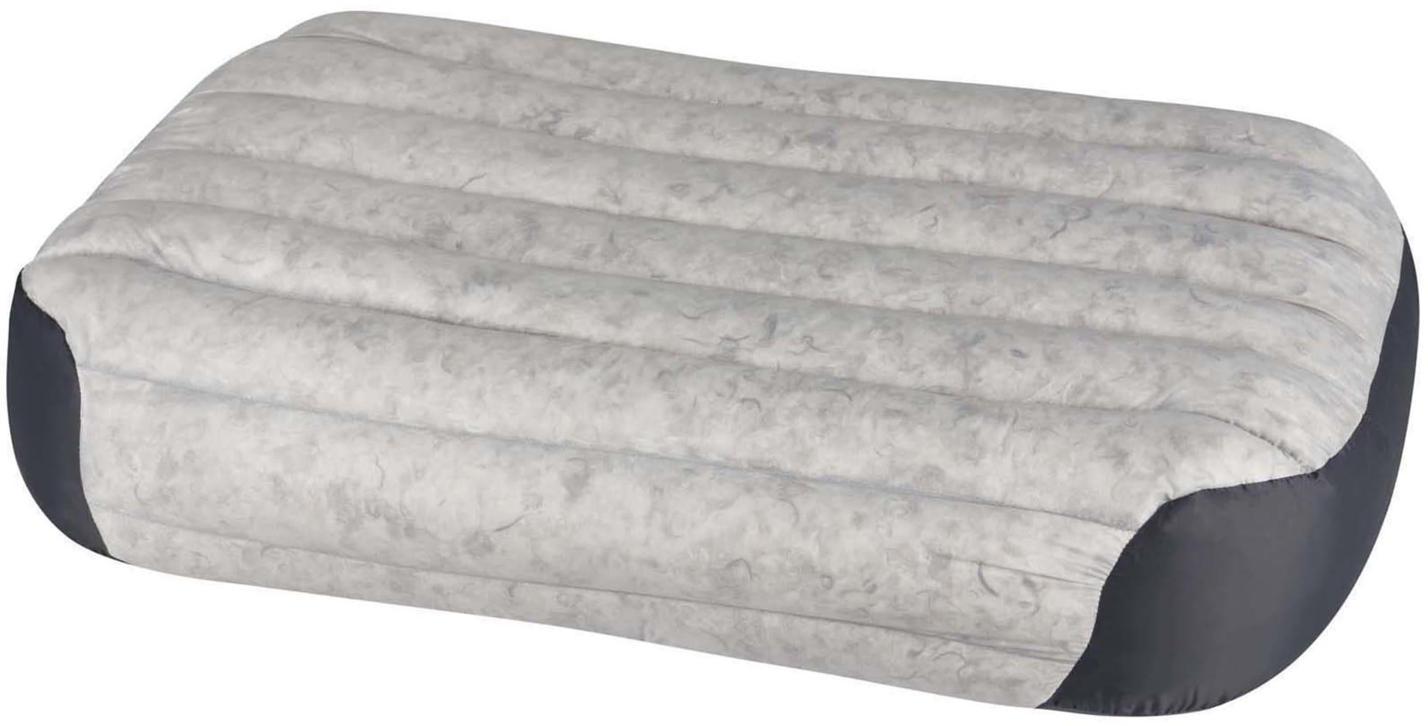Lett, kompakt og superkomfortabel oppblåsbar pute med dun