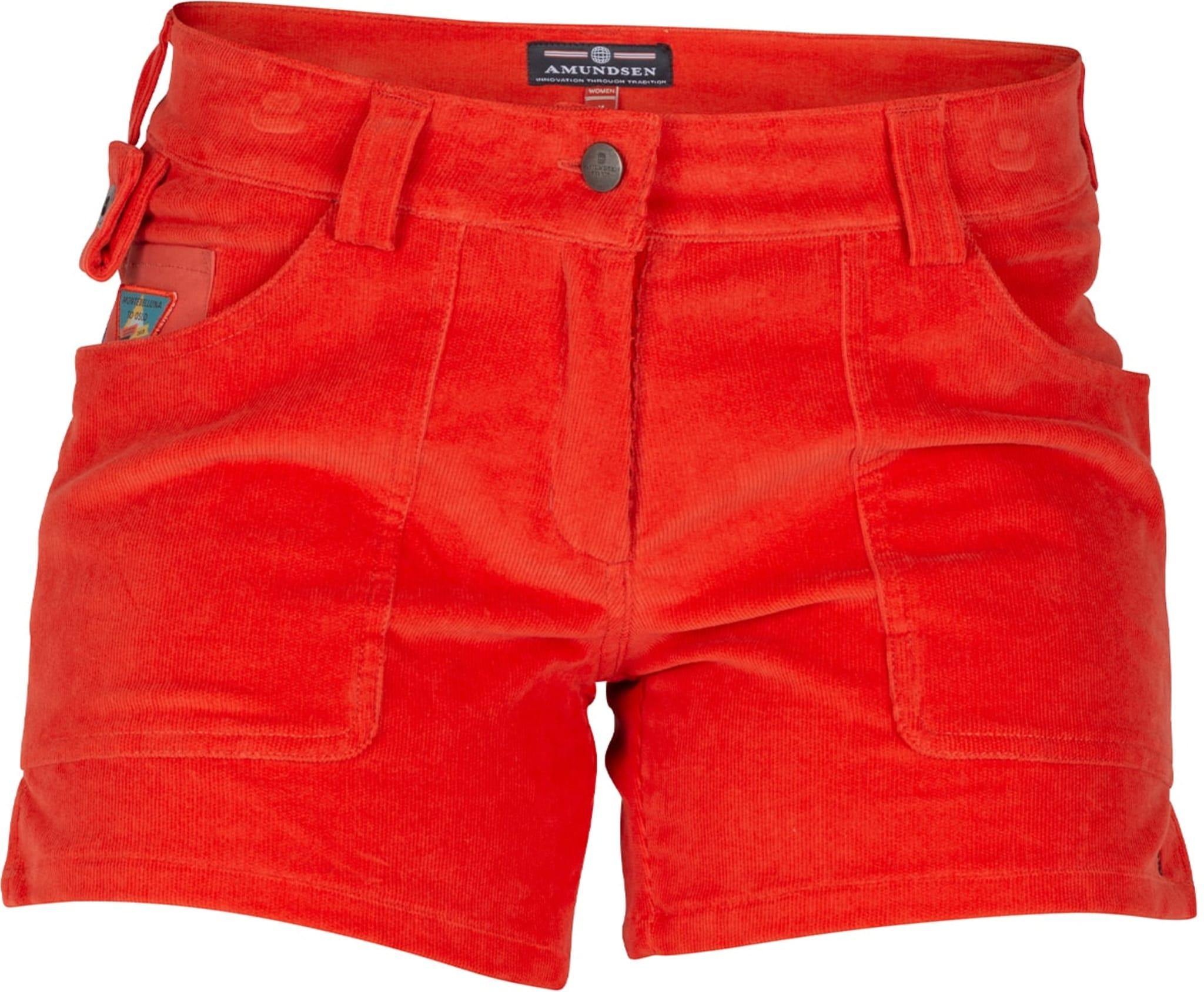 Shorts i stretchy kordfløyel
