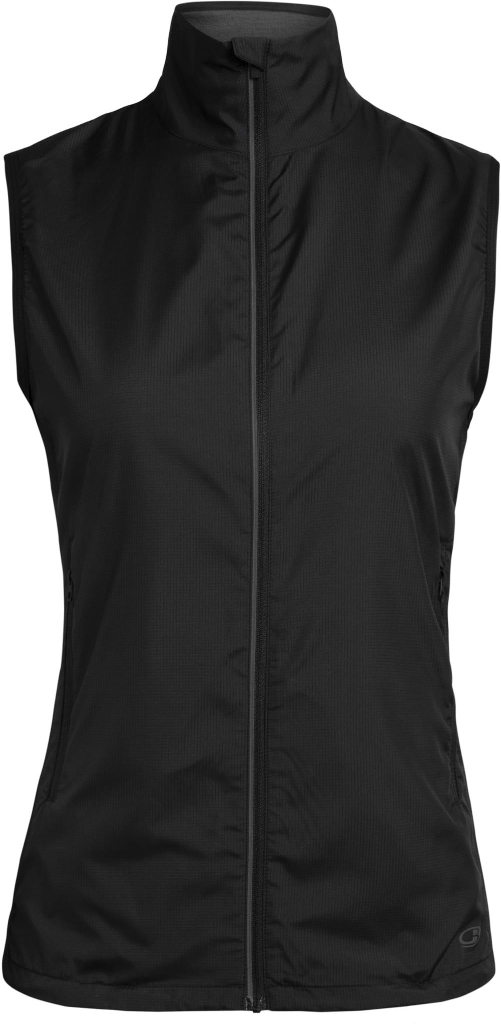 Lett windbreaker-vest med tynn ullnetting for trening