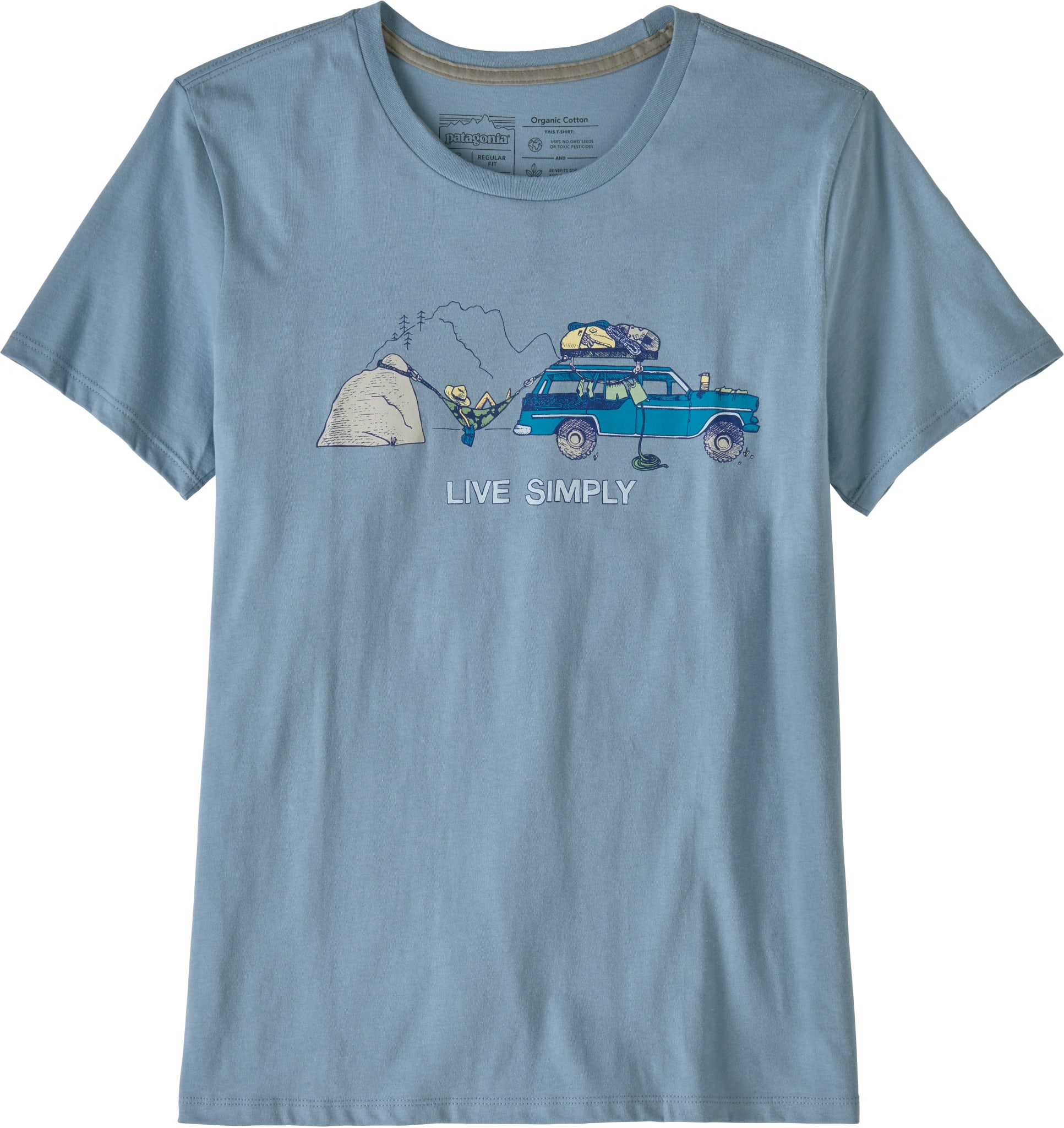Ws Live Simply Lounger Organic Cotton Crew T-Shirt