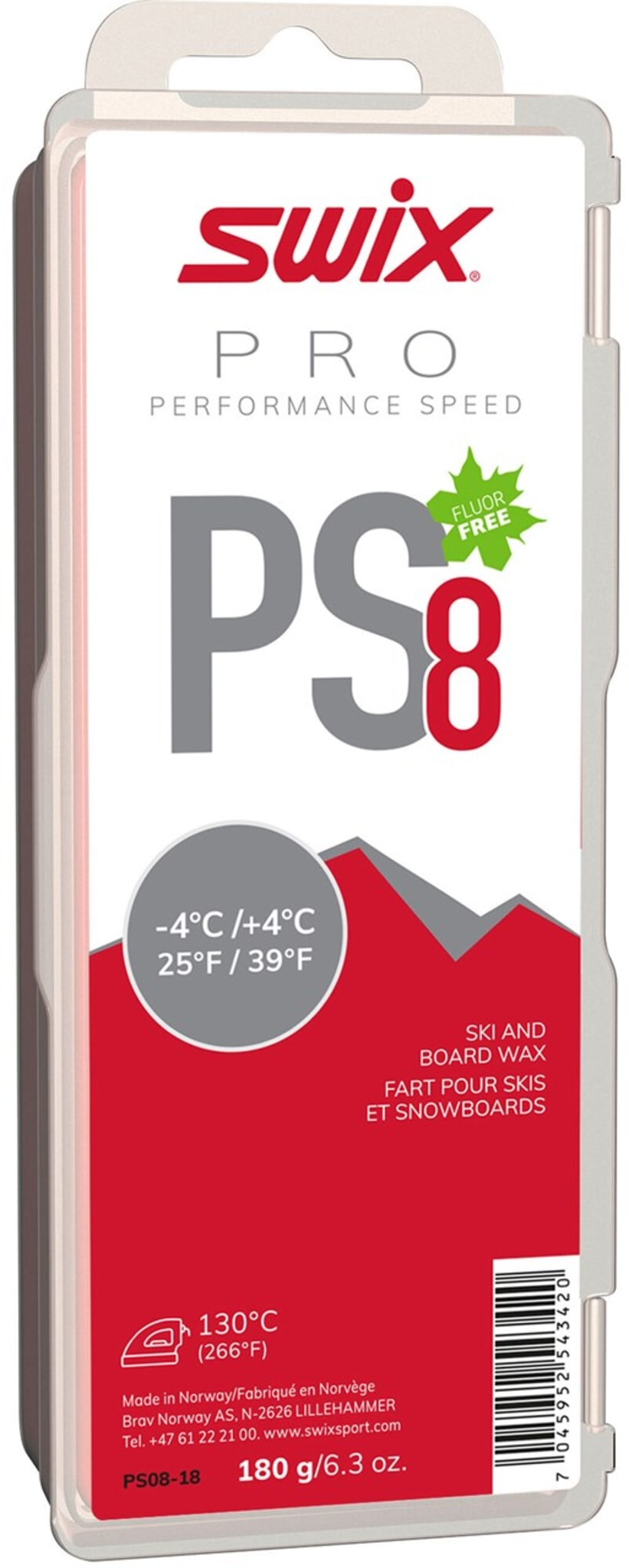 PS8 Red -4°C/+4°C 180g