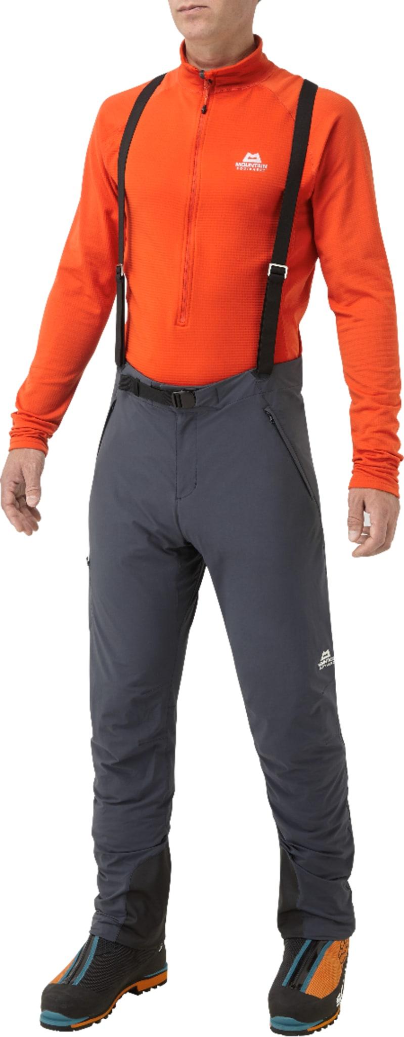 Softshellbukse med avtagbare bukseseler til bruk i høyfjellet