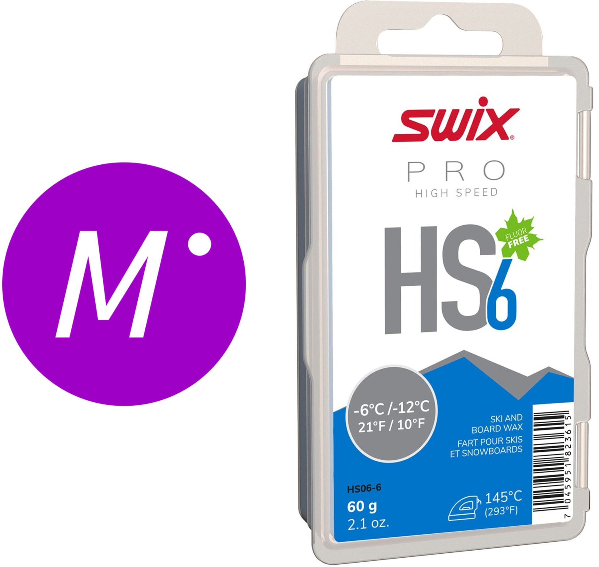 Skin Slip Brukte Ski med Swix HS Prepp
