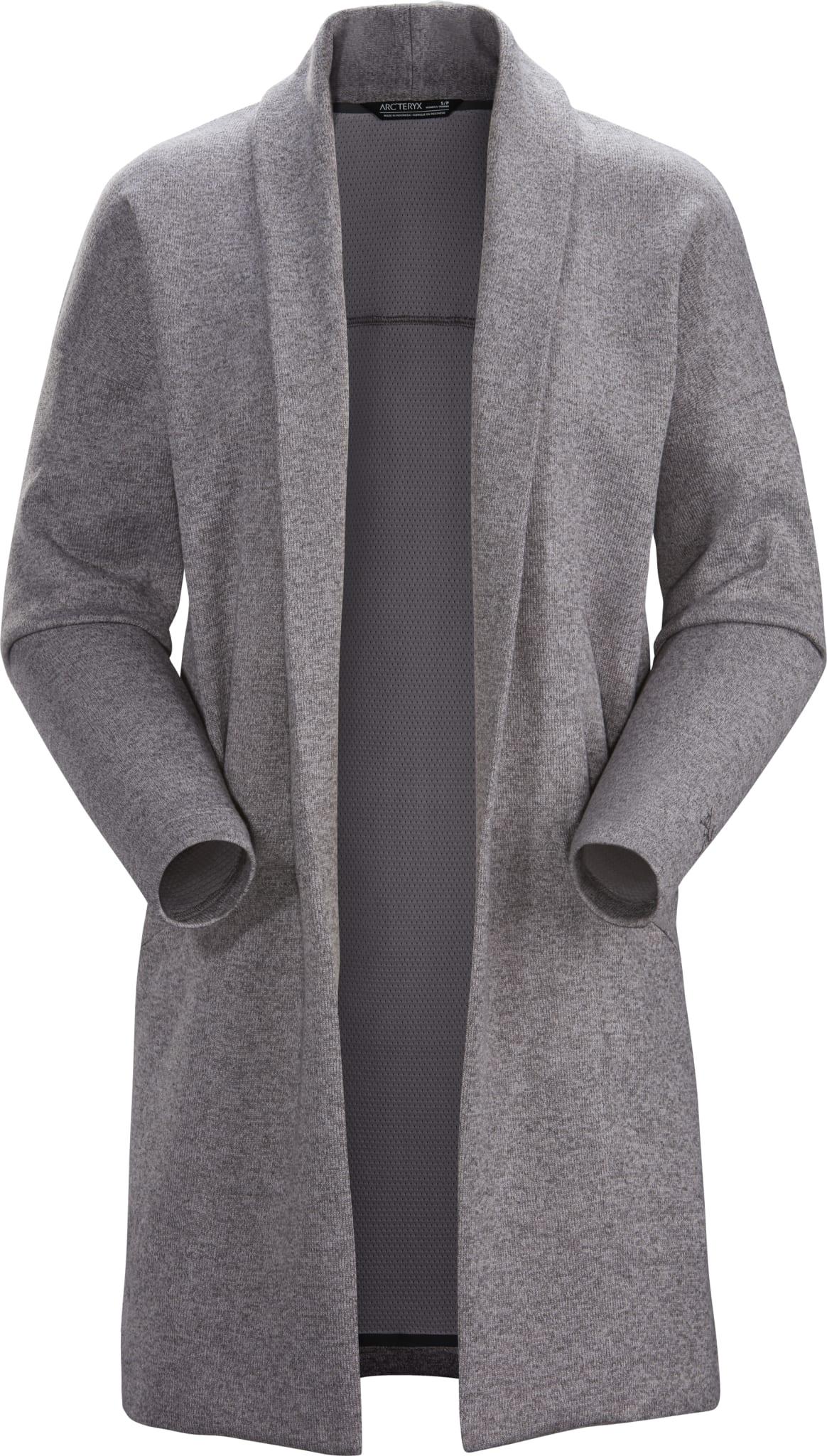Elegant cardigan i fleece