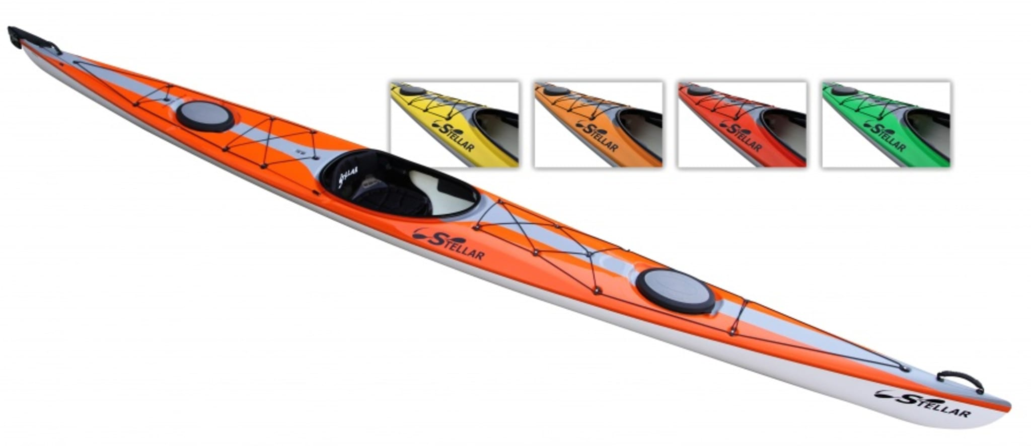 Stellar S18 er en rask og stabil havkajakk. Moderne design. Ypperlig for dagsturer og lange turer på hav og innsjøer.