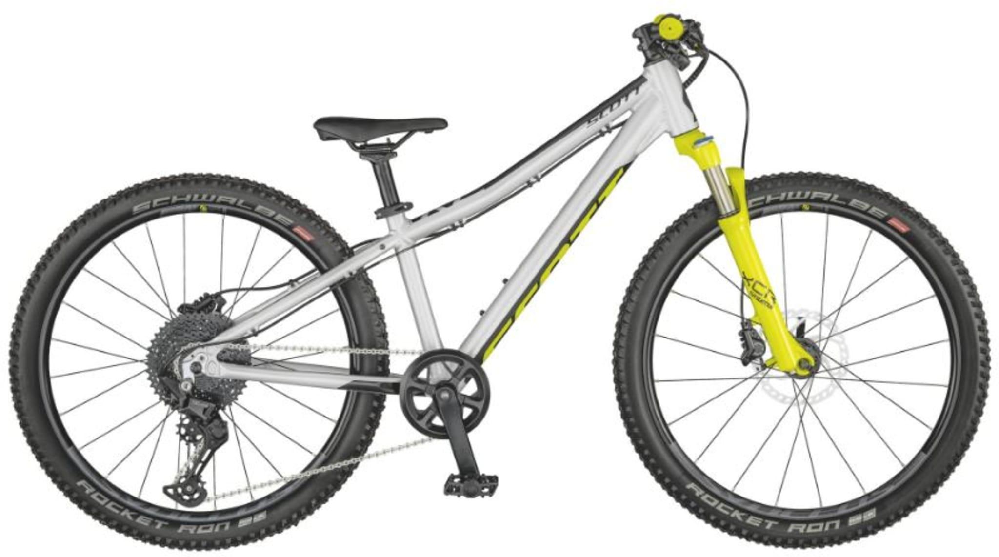 """Suveren og kapabel """"gjør-alt"""" 24-tommers sykkel med dempegaffel foran, laget for de unge som liker en racing-inspirert sykkel!"""